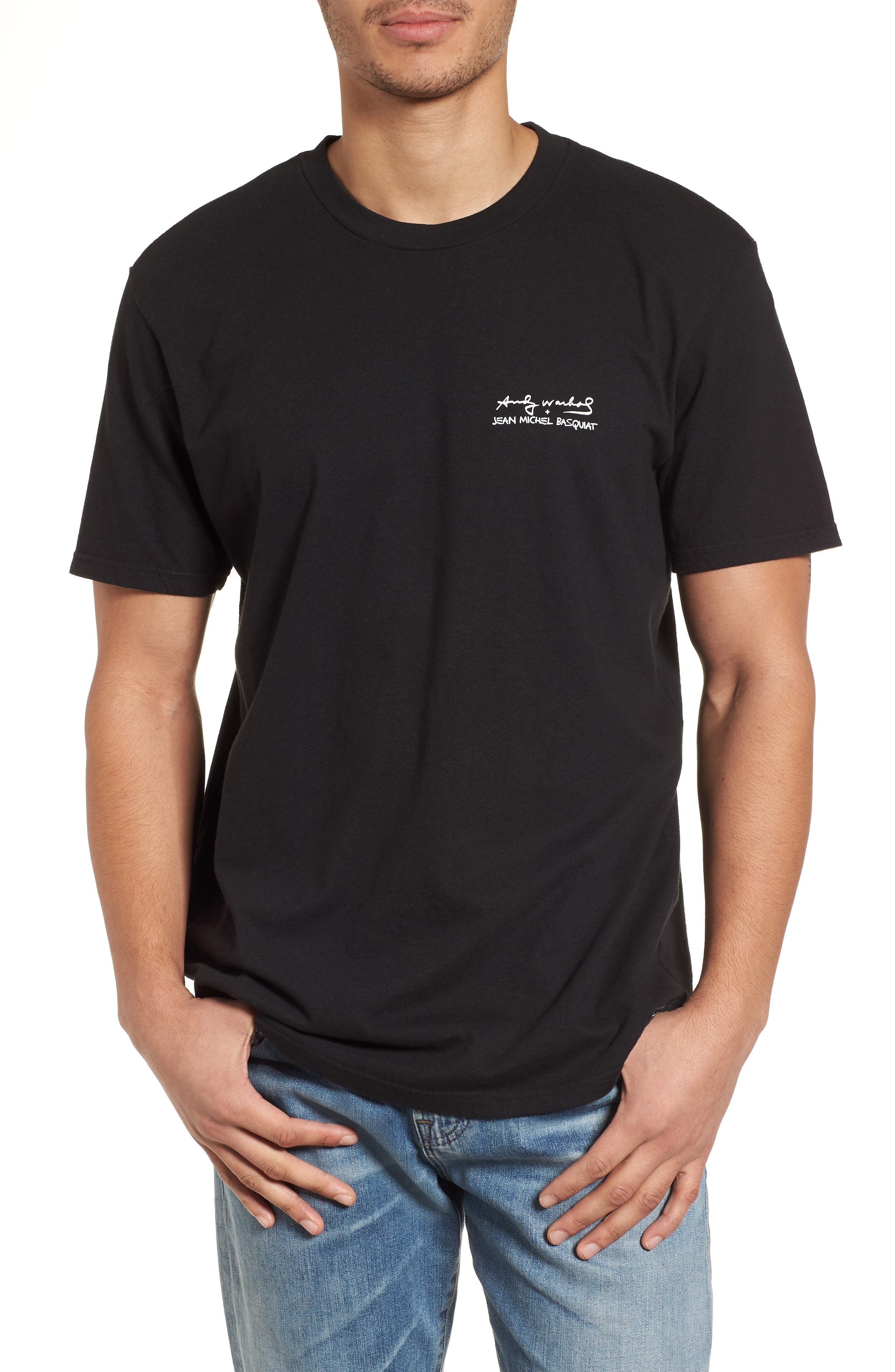 Fright Wig T-Shirt,                         Main,                         color, Black