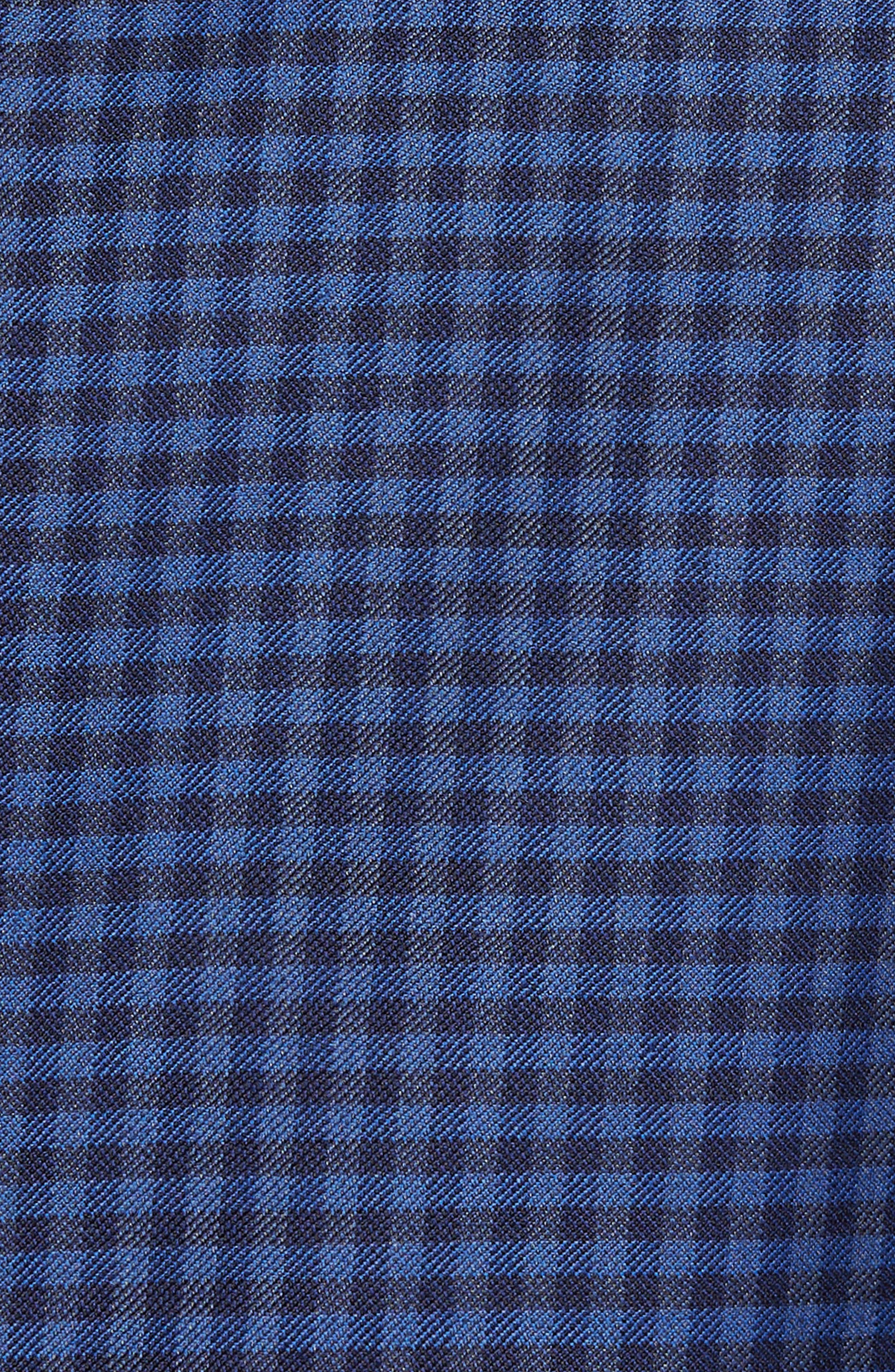 Connor Classic Fit Check Wool Sport Coat,                             Alternate thumbnail 5, color,                             Medium Blue