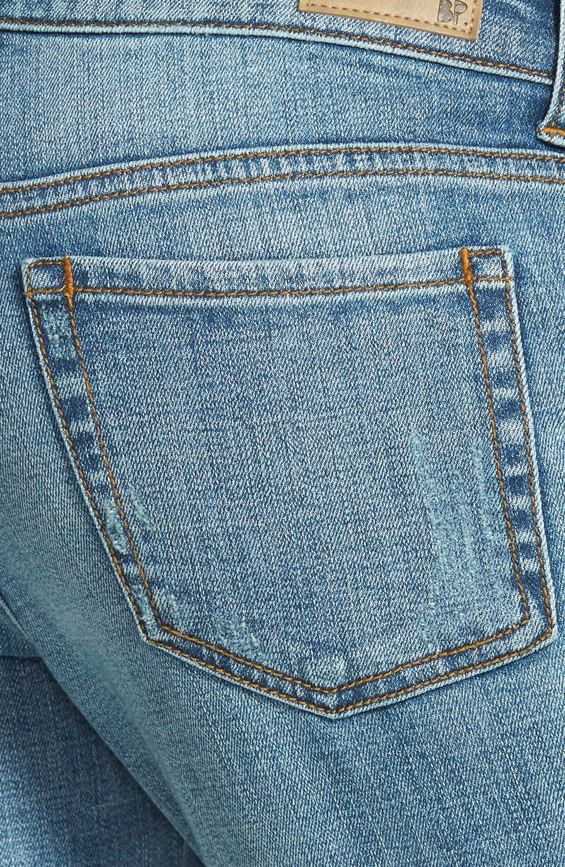 Alternate Image 3  - BP. Girlfriend Jeans (Mystic Blue Distressed)