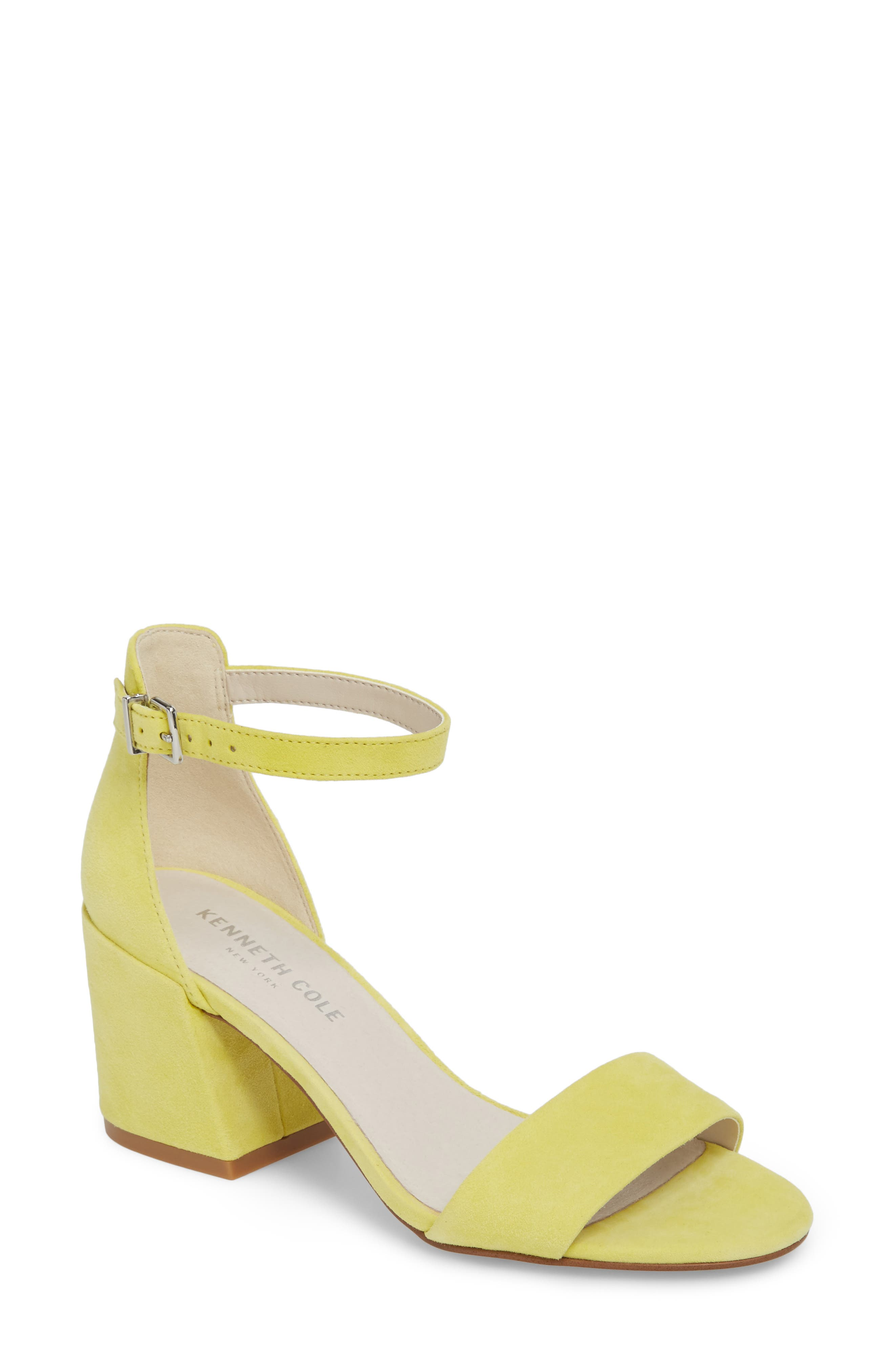 Kenneth Cole New York Hannon Block Heel Ankle Strap Sandal (Women)
