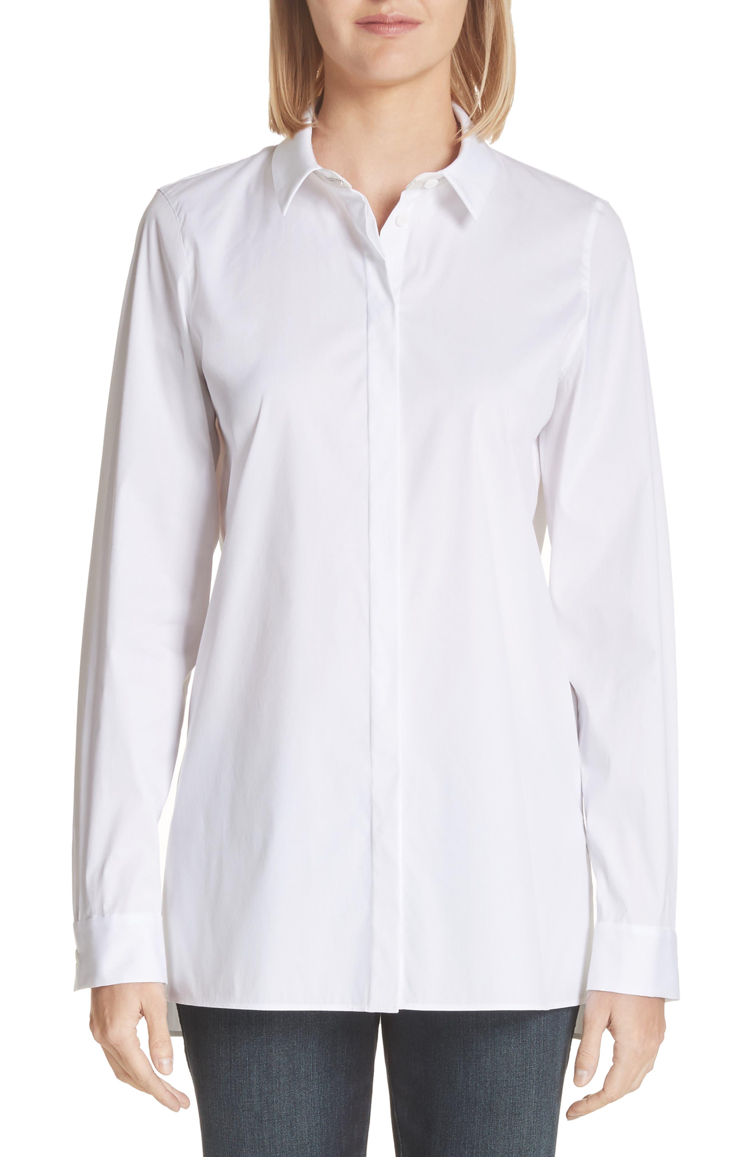 Brayden Excursion Stretch Blouse,                         Main,                         color, White