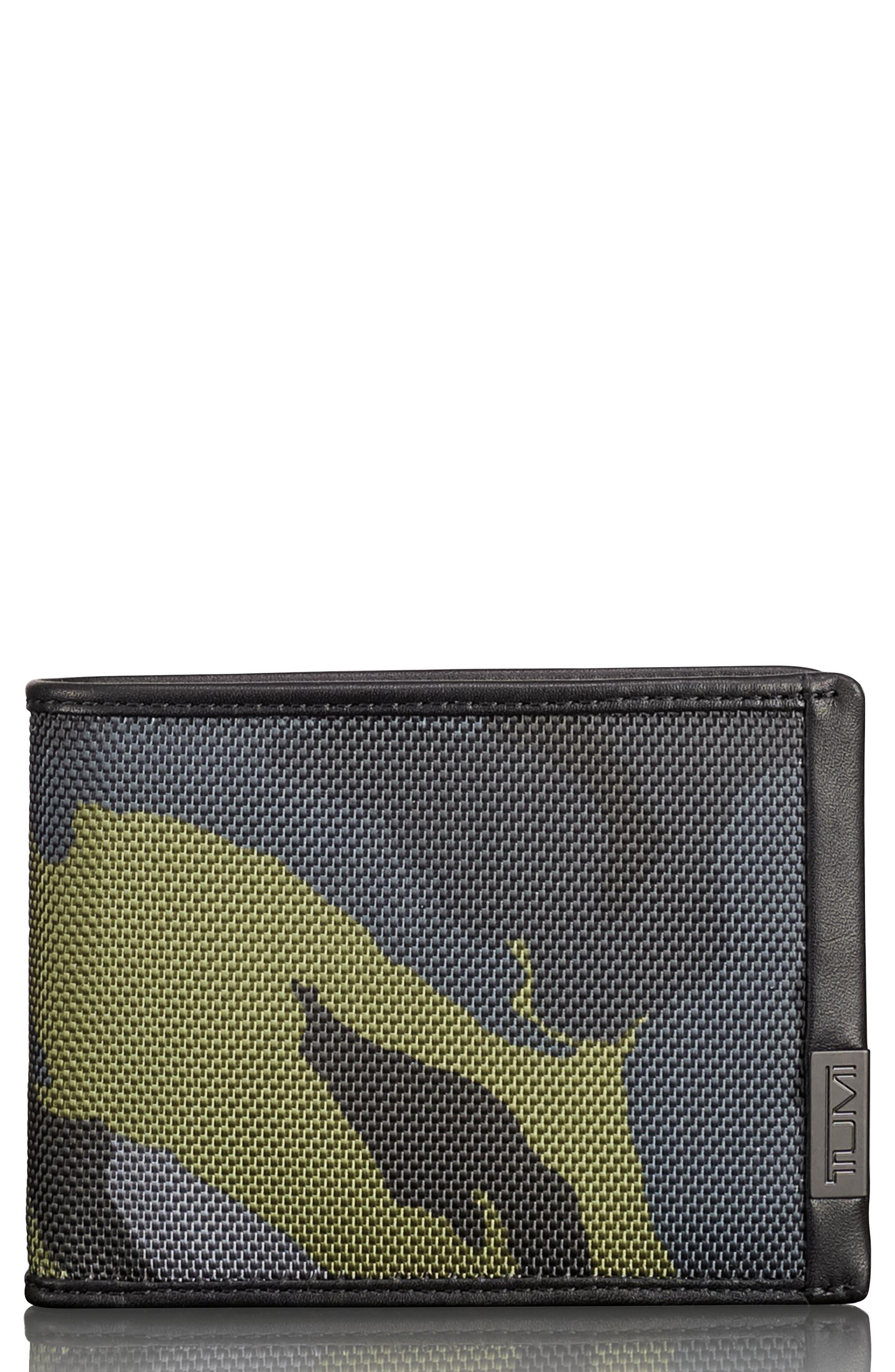 Alpha Billfold Wallet,                             Main thumbnail 1, color,                             Green Camo