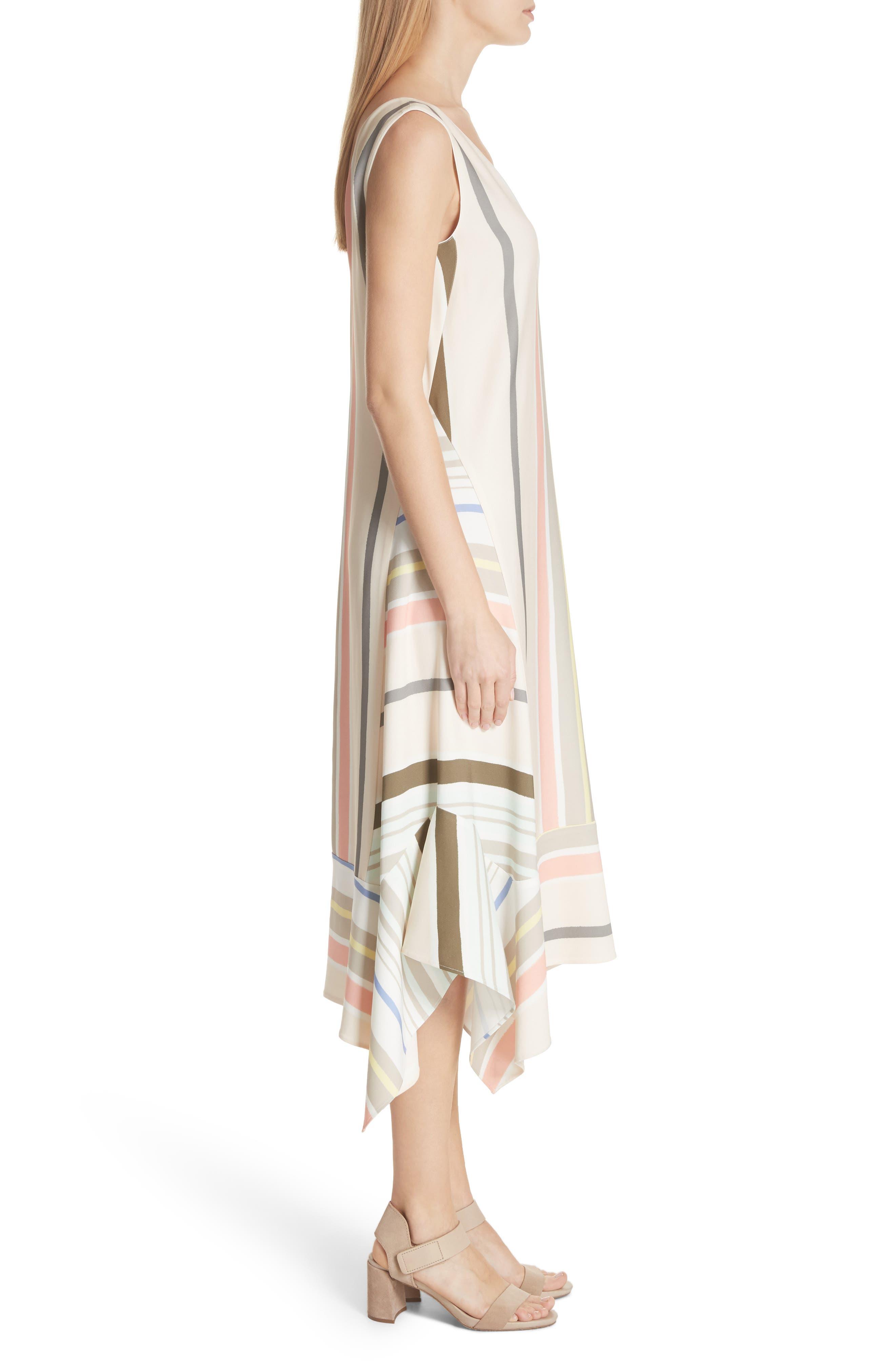Mesa Stripe Midi Dress,                             Alternate thumbnail 3, color,                             Khaki Multi