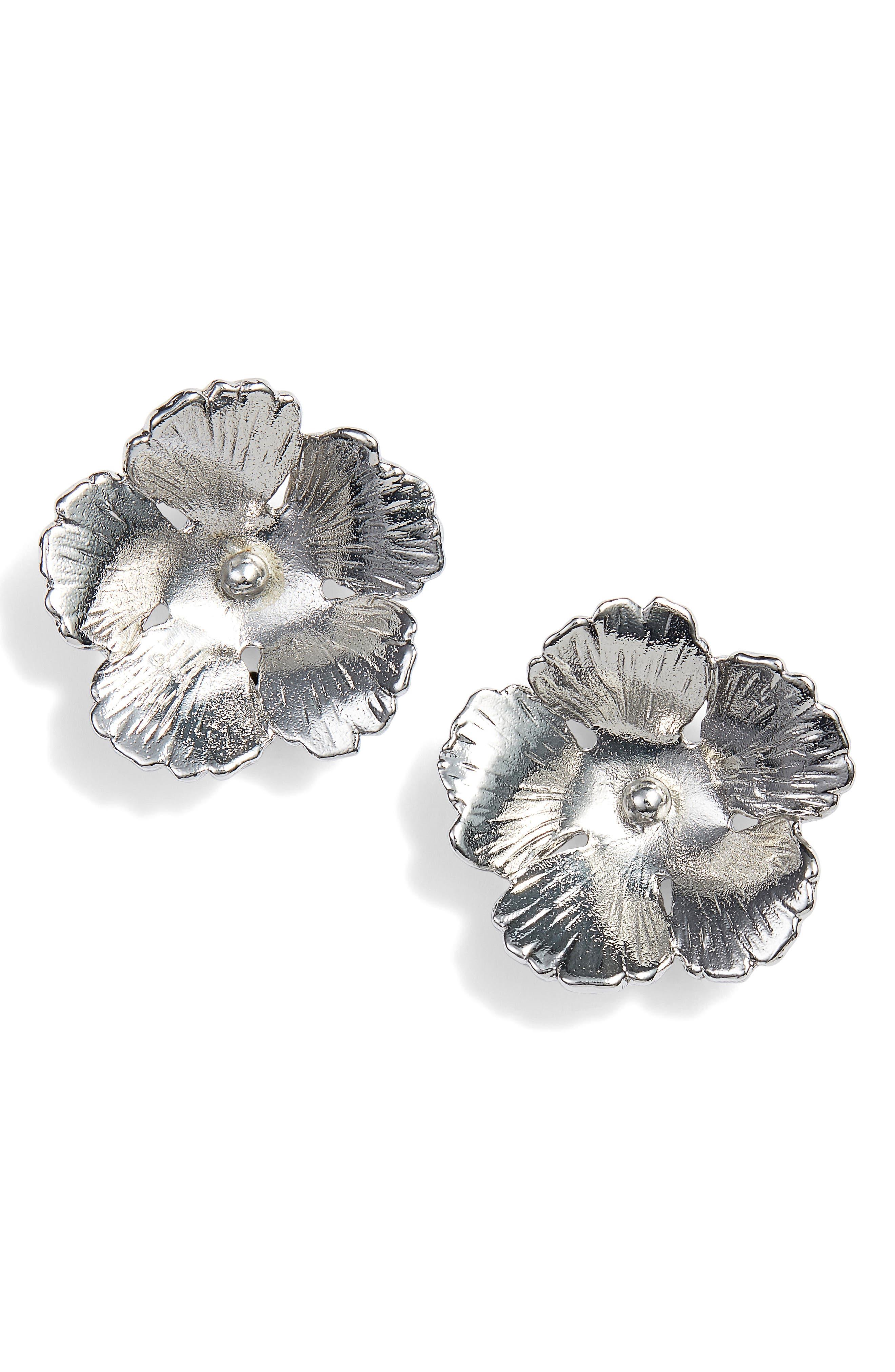 Halogen® Floral Stud Earrings