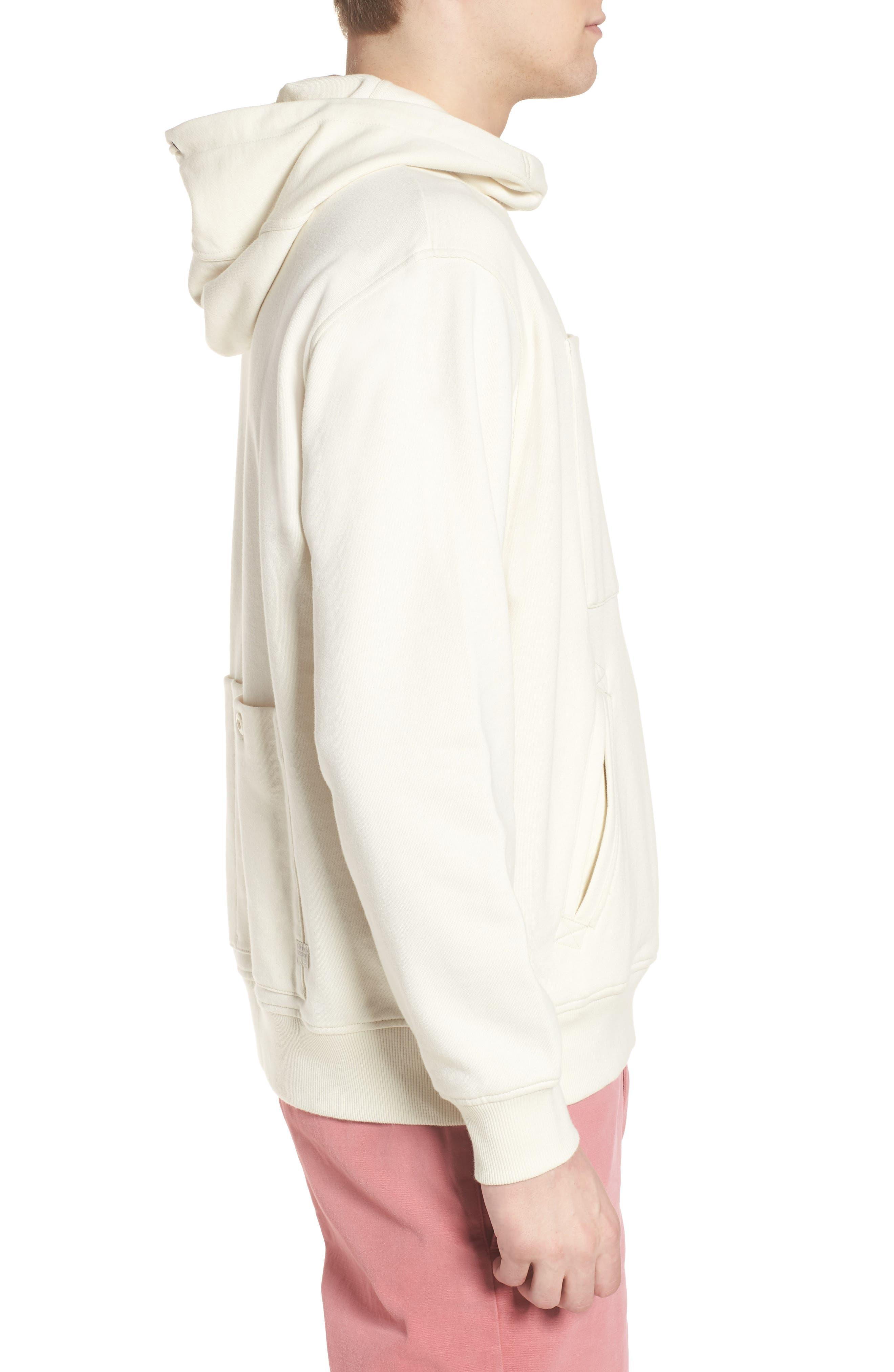 Core Hybrid Archive Hooded Sweatshirt,                             Alternate thumbnail 3, color,                             Ivory