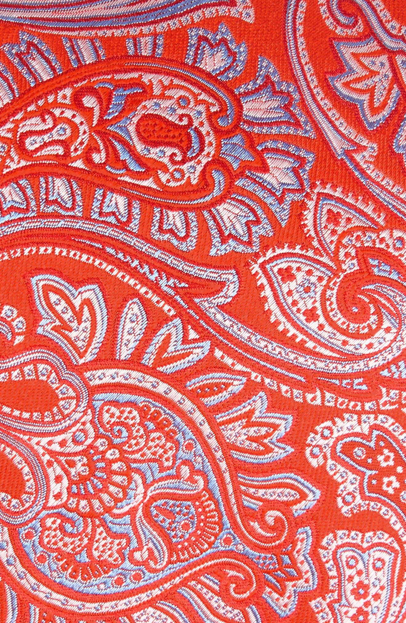 Paisley Silk Tie,                             Alternate thumbnail 2, color,                             Melon