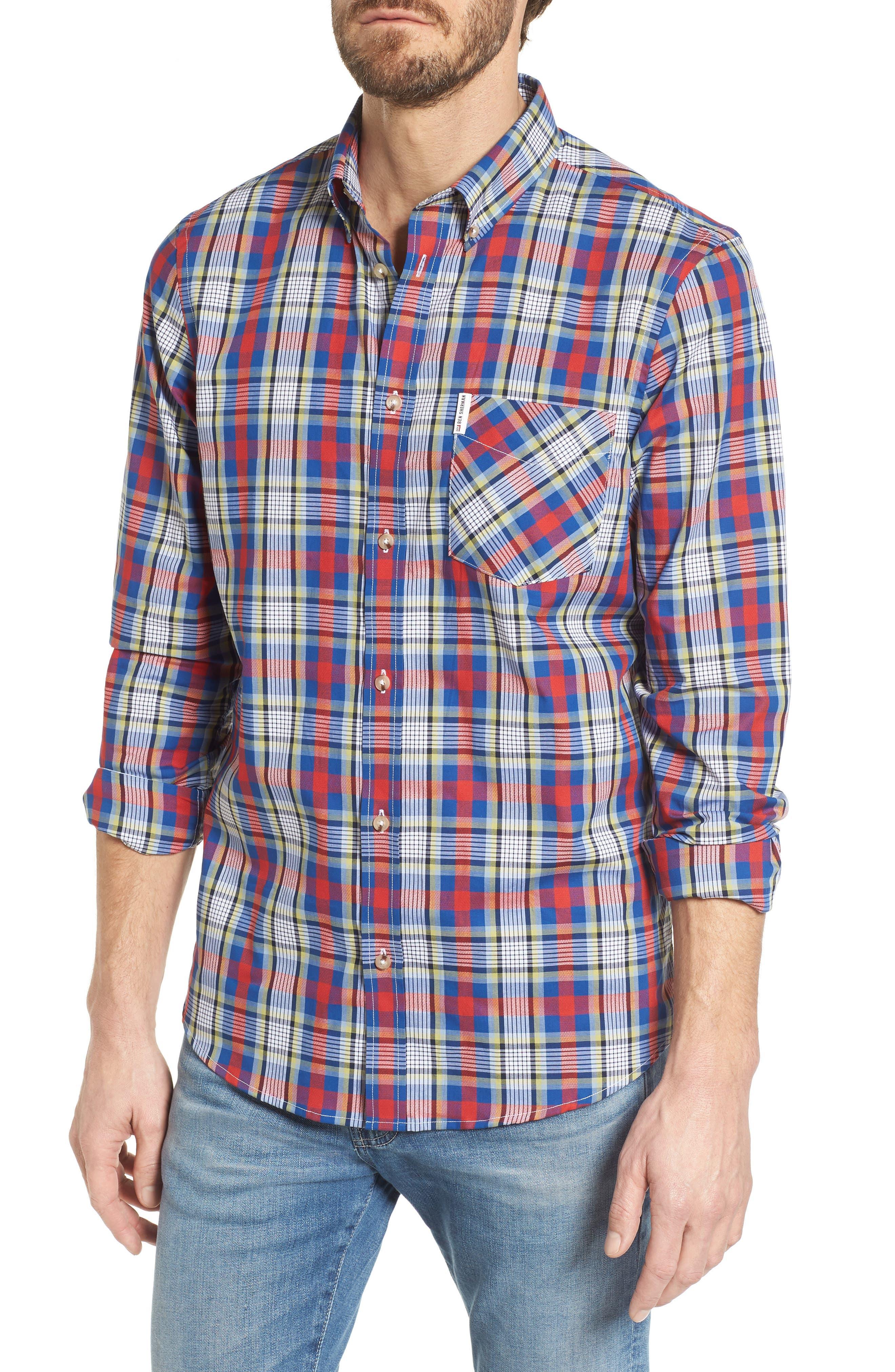 Ben Sherman Check Crepe Textured Woven Shirt