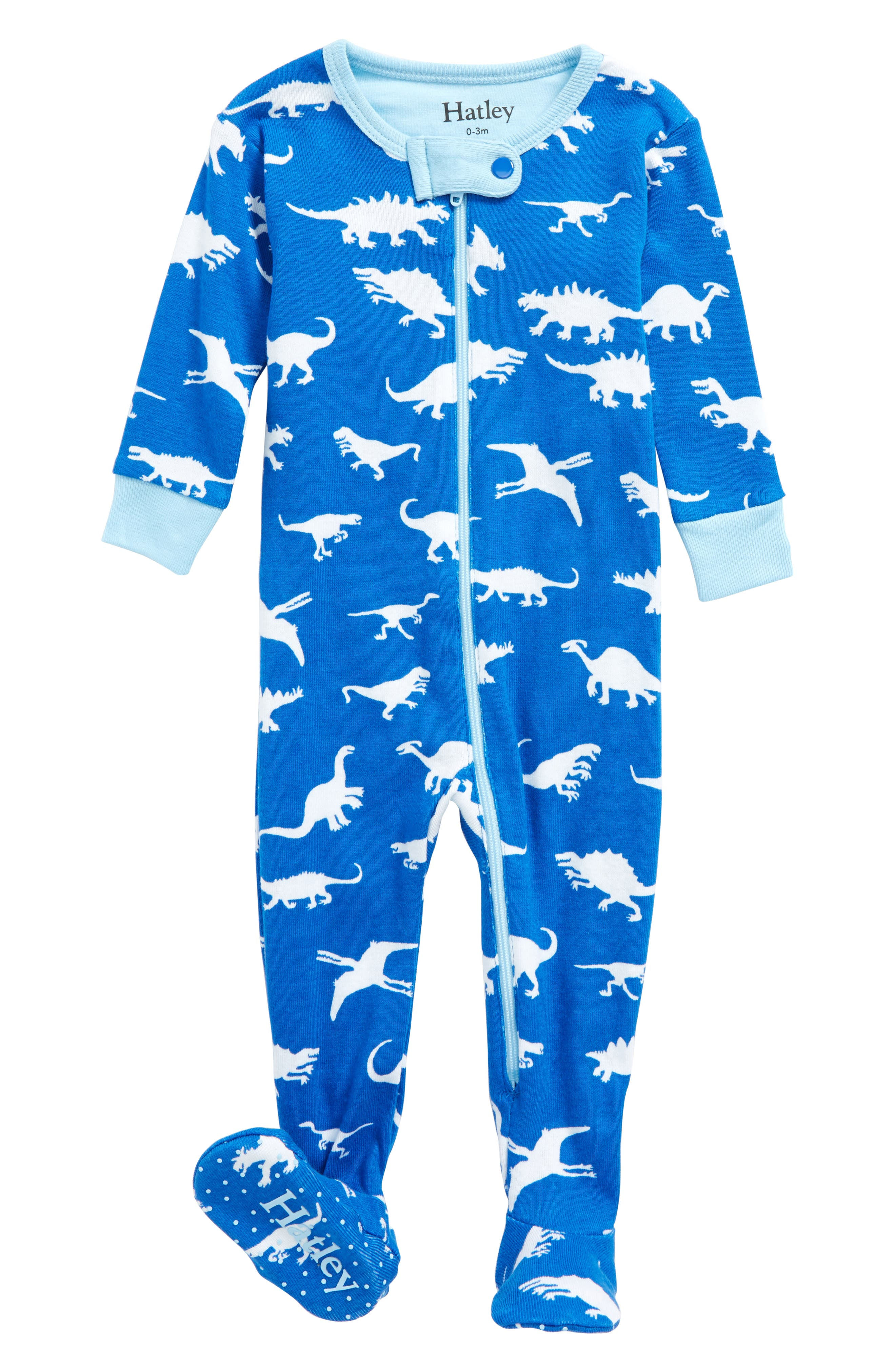 Hatley Dinasour Menagerie Fitted One-Piece Pajamas (Baby)