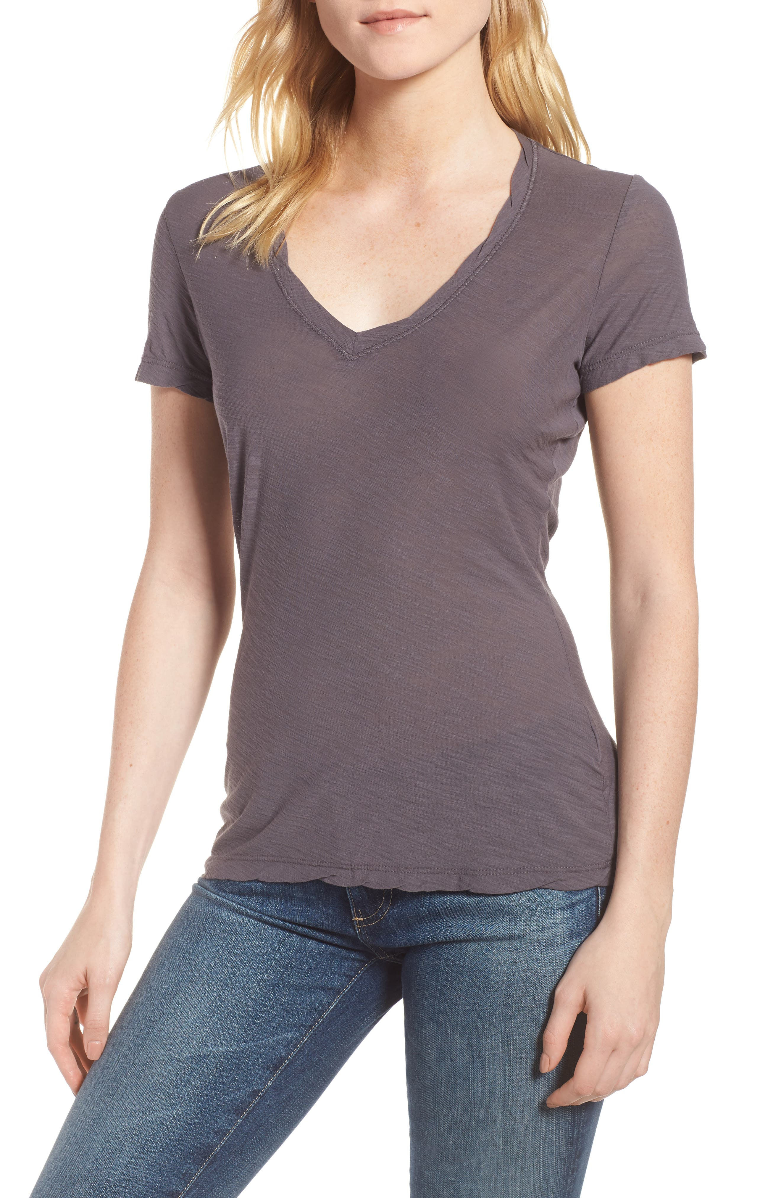 Alternate Image 1 Selected - James Perse Slub Cotton V-Neck Tee