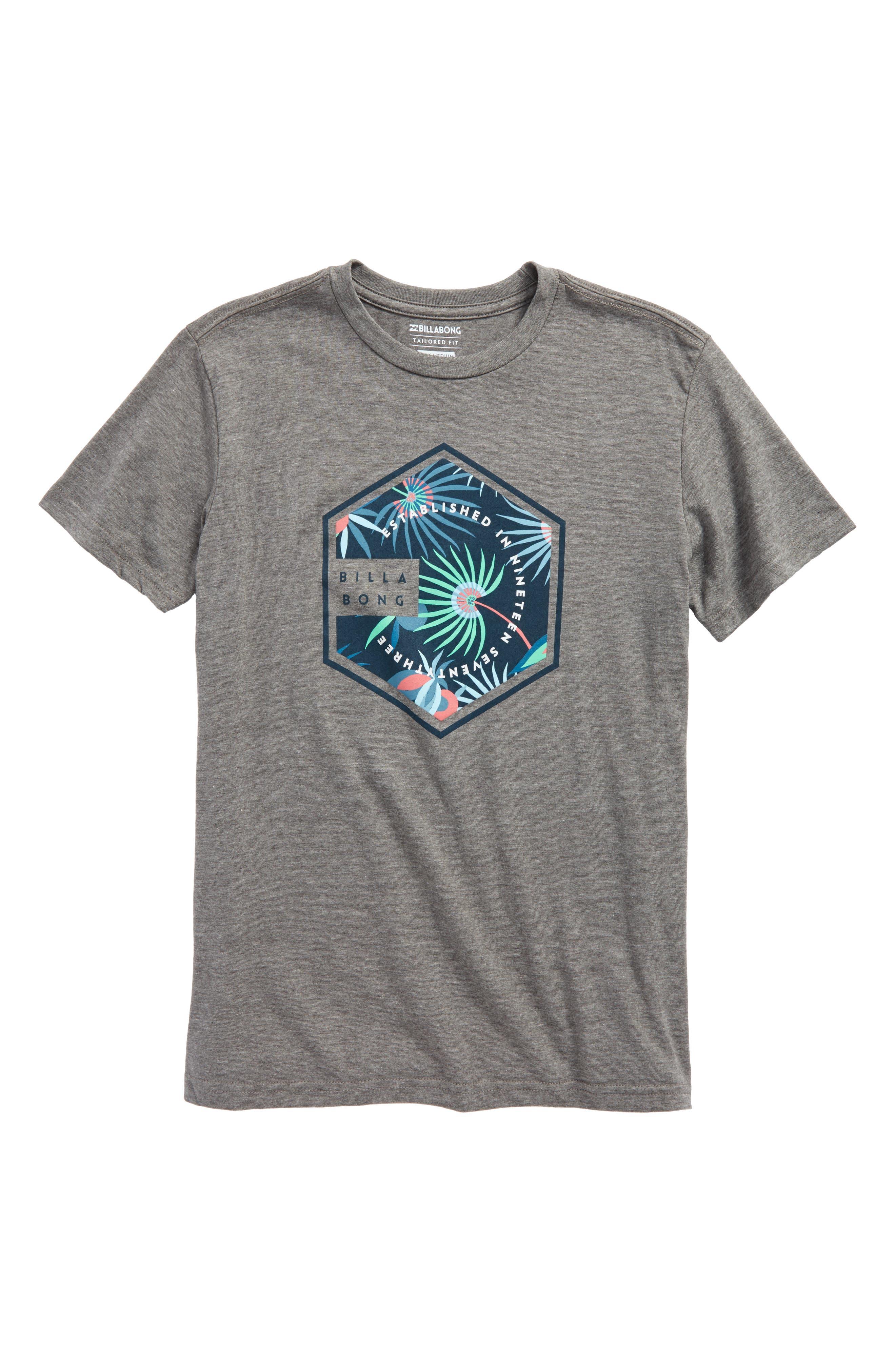 Access Graphic T-Shirt,                             Main thumbnail 1, color,                             Dark Grey Heather