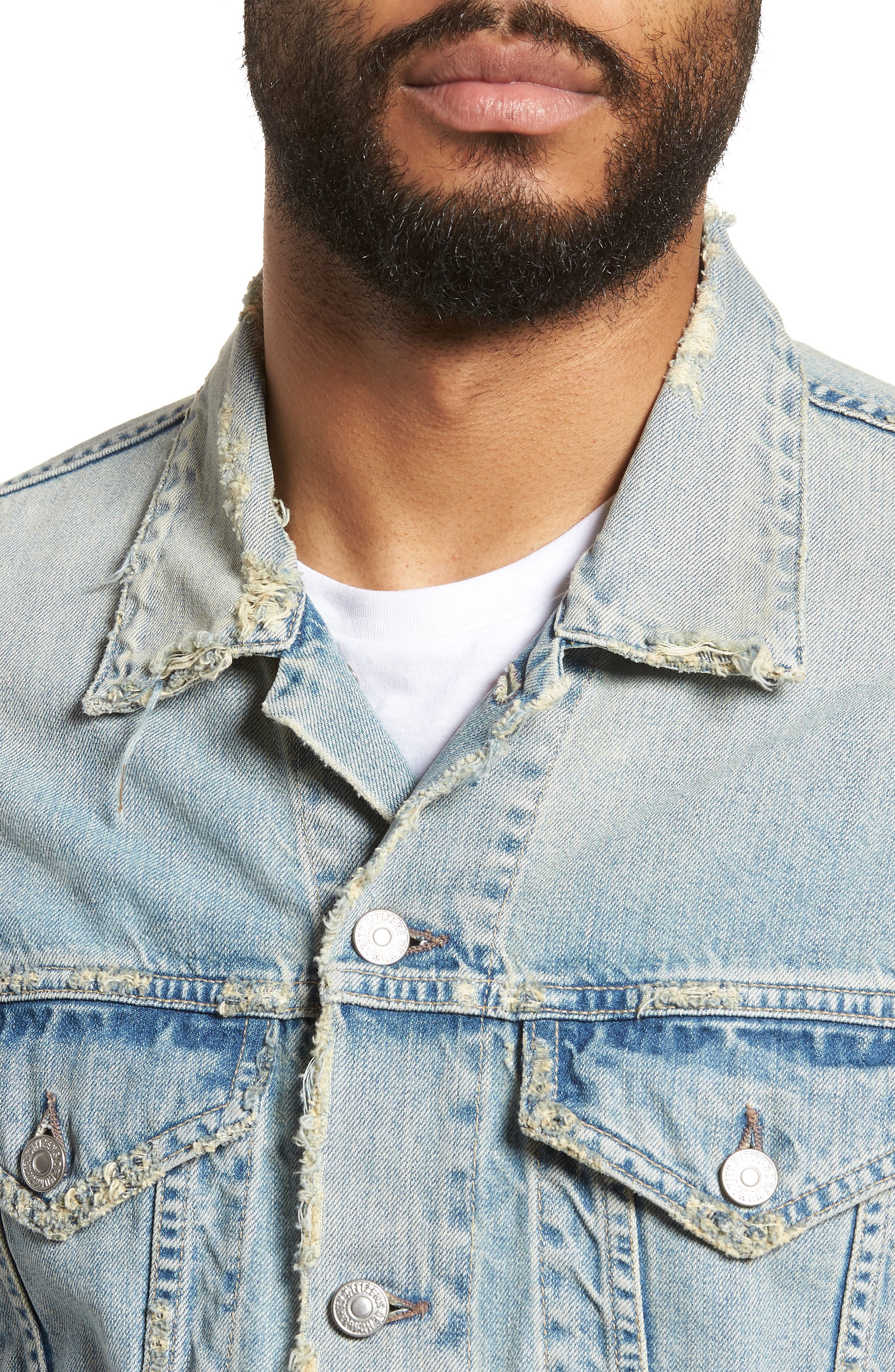 Denim Jacket,                             Alternate thumbnail 4, color,                             Silver City