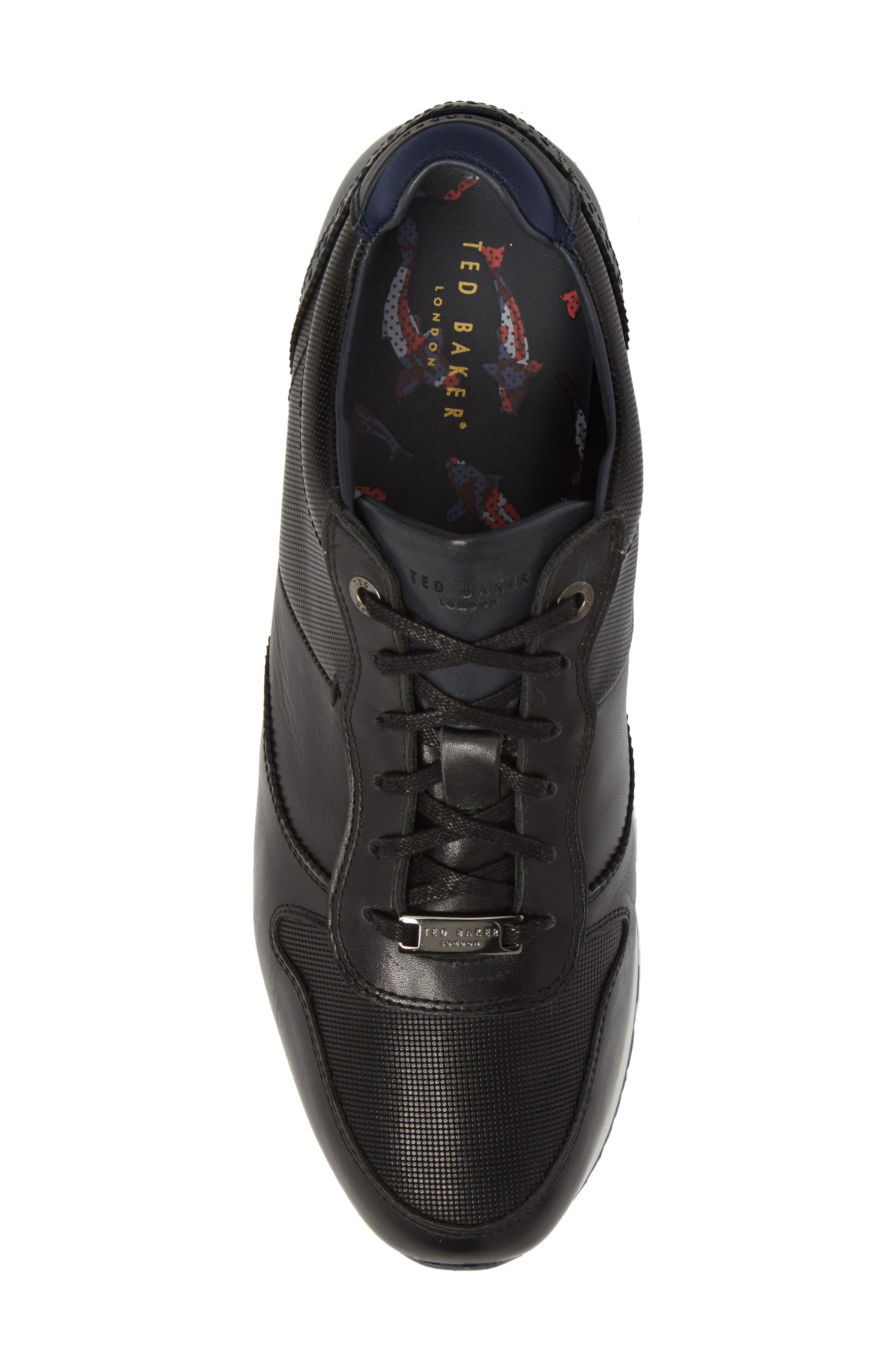 Shindl Sneaker,                             Alternate thumbnail 5, color,                             Black Leather