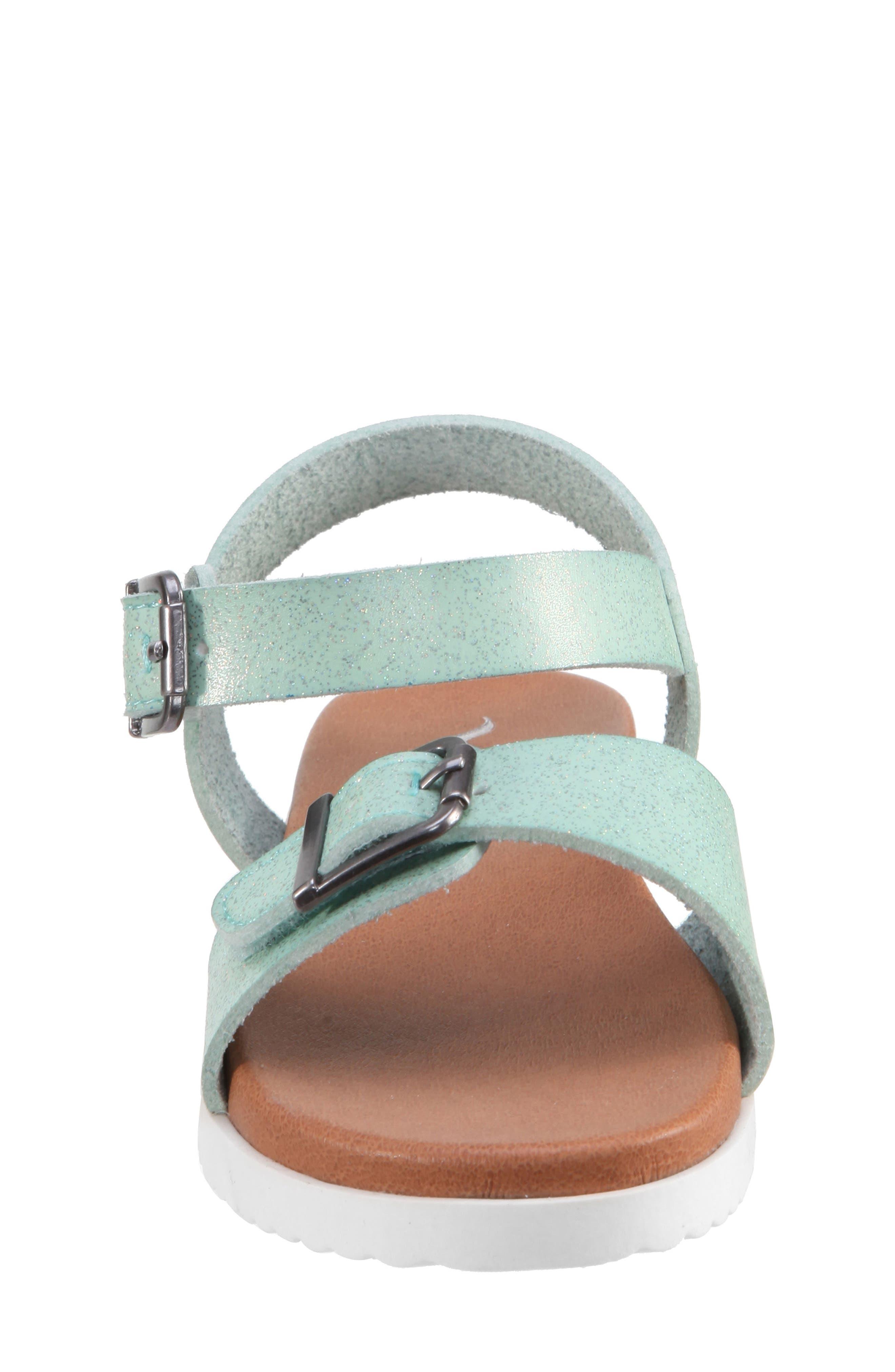Jacklin3 Quarter Strap Sandal,                             Alternate thumbnail 4, color,                             Mint Dip Dye