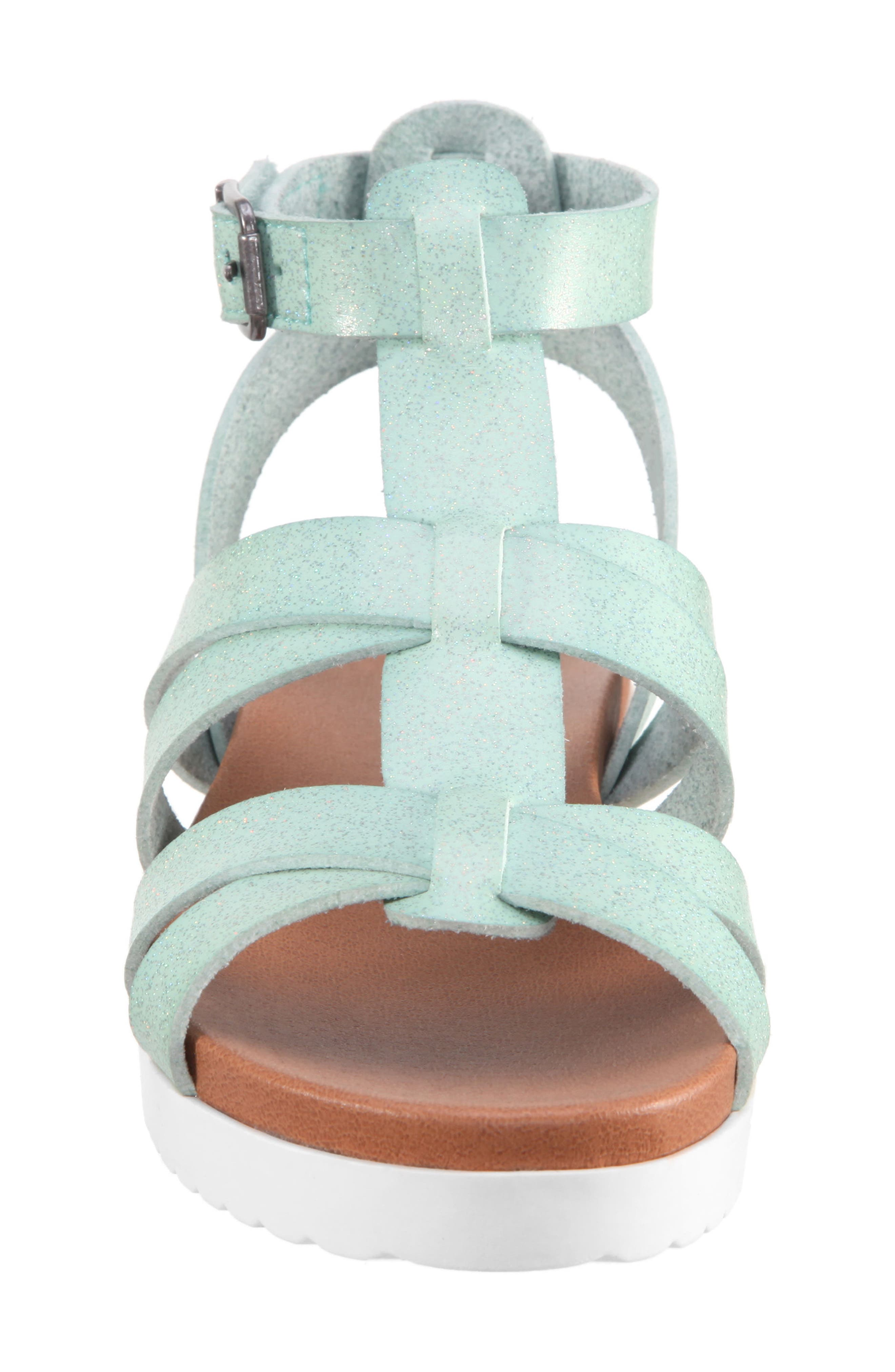 Alpha Gladiator Sandal,                             Alternate thumbnail 4, color,                             Mint Dip Dye