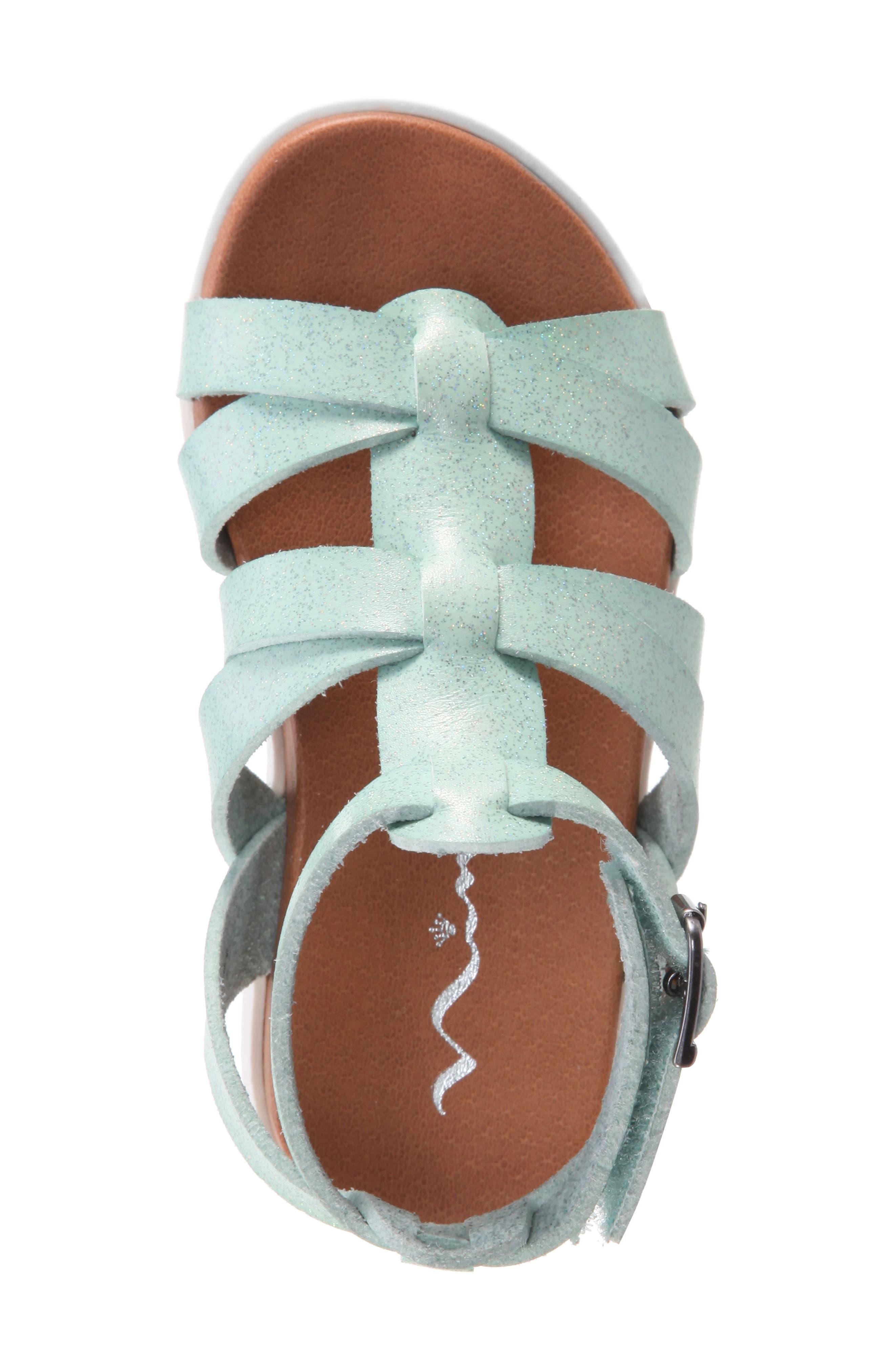 Alpha Gladiator Sandal,                             Alternate thumbnail 5, color,                             Mint Dip Dye