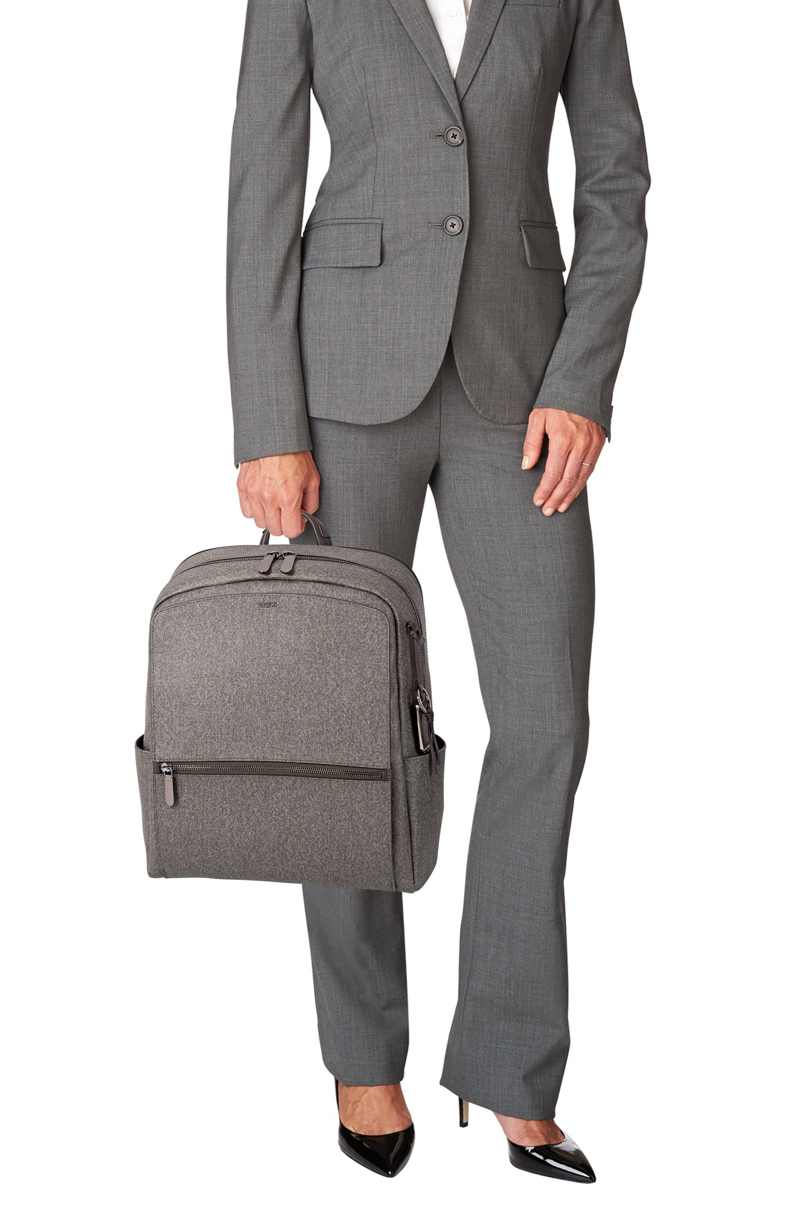 Stanton Becca Coated Canvas Backpack,                             Alternate thumbnail 2, color,                             Earl Grey