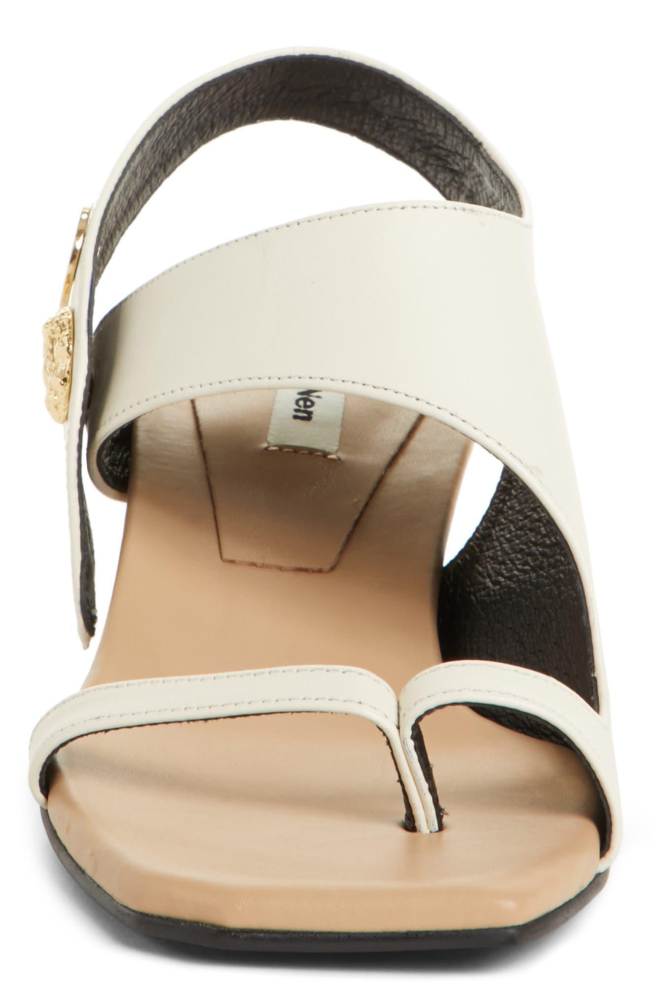 Embellished Leather Sandal,                             Alternate thumbnail 5, color,                             Beige Cream
