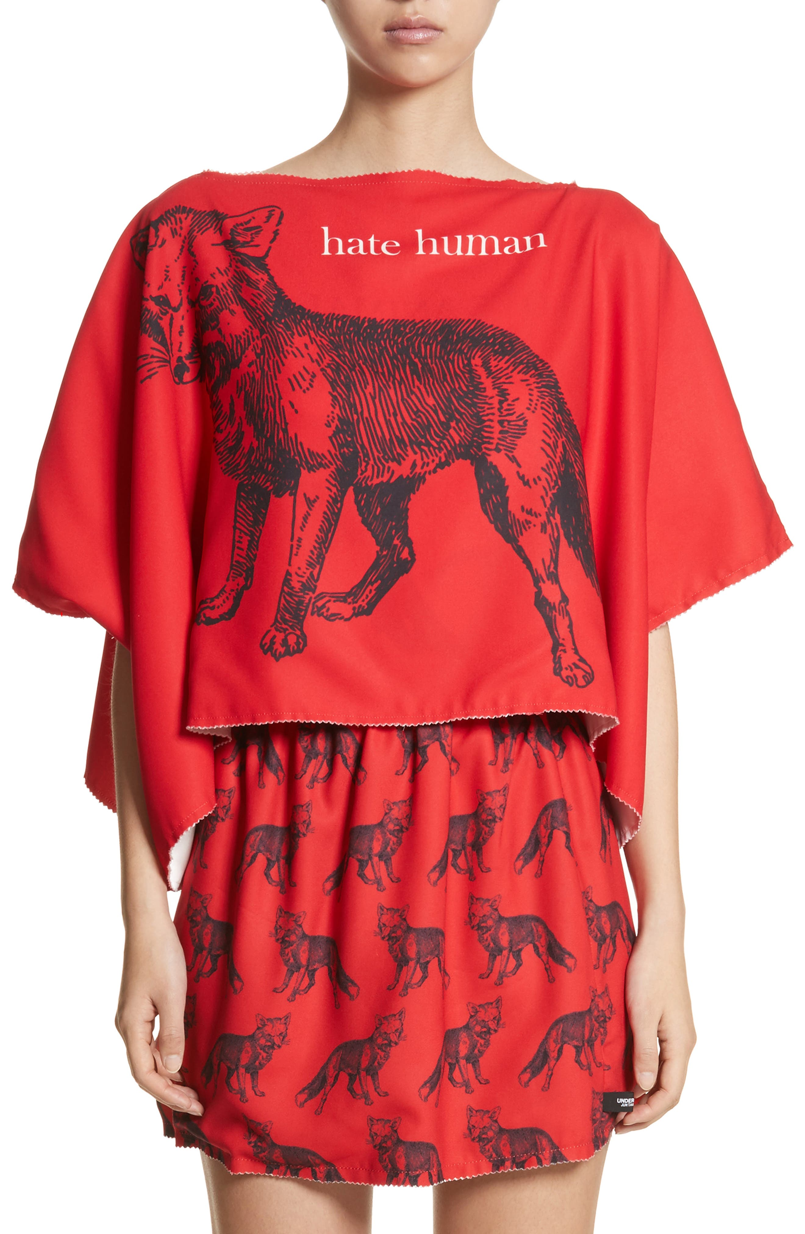 Undercover Hate Human/Love Animal Reversible Top
