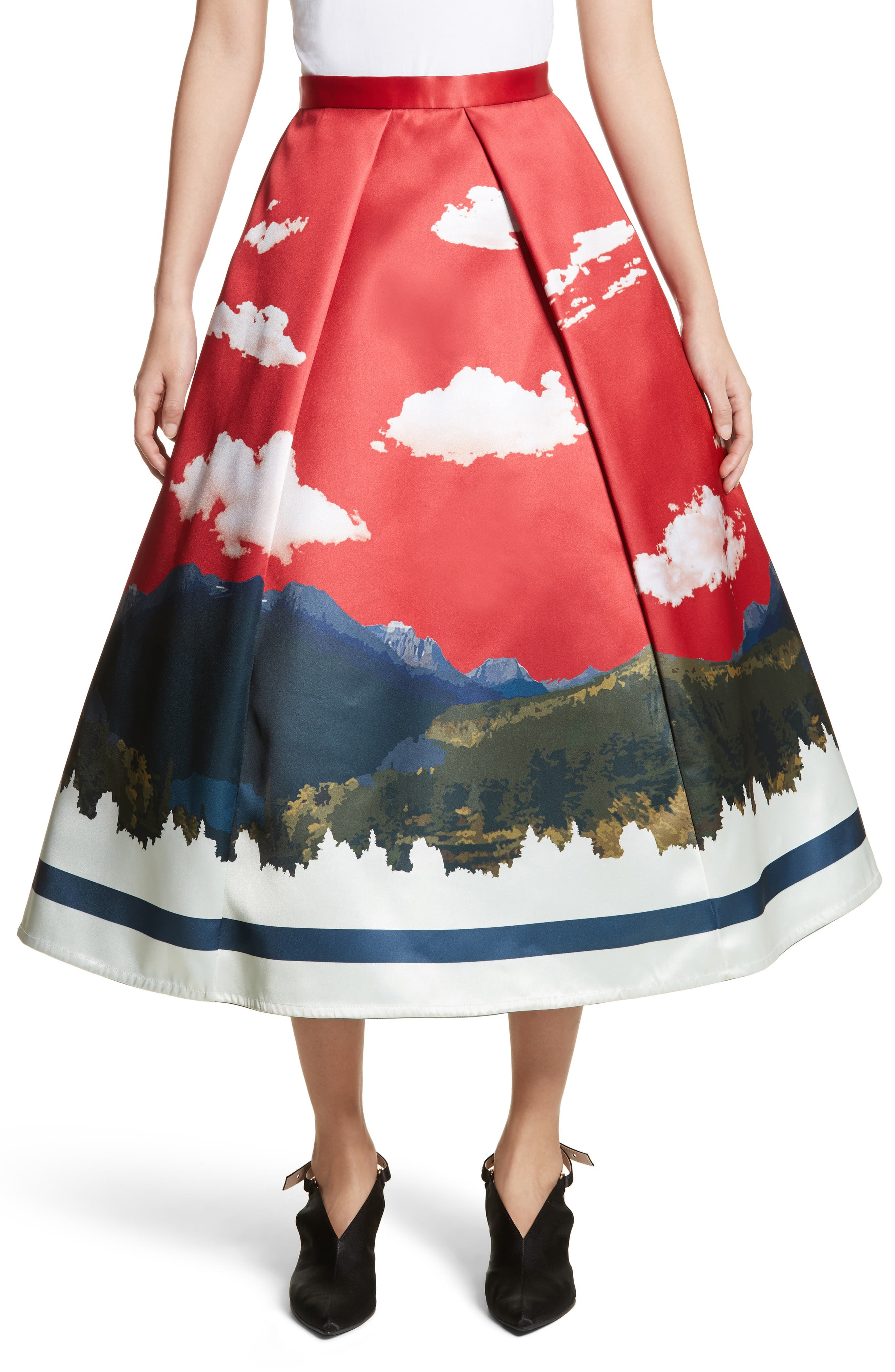 Day/Night Reversible Skirt,                             Main thumbnail 1, color,                             Red/ Black