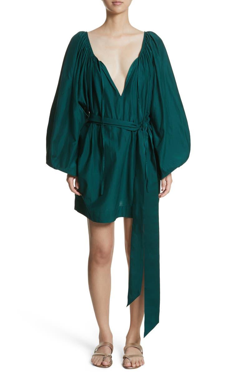 Pegasus Cotton  Silk Minidress