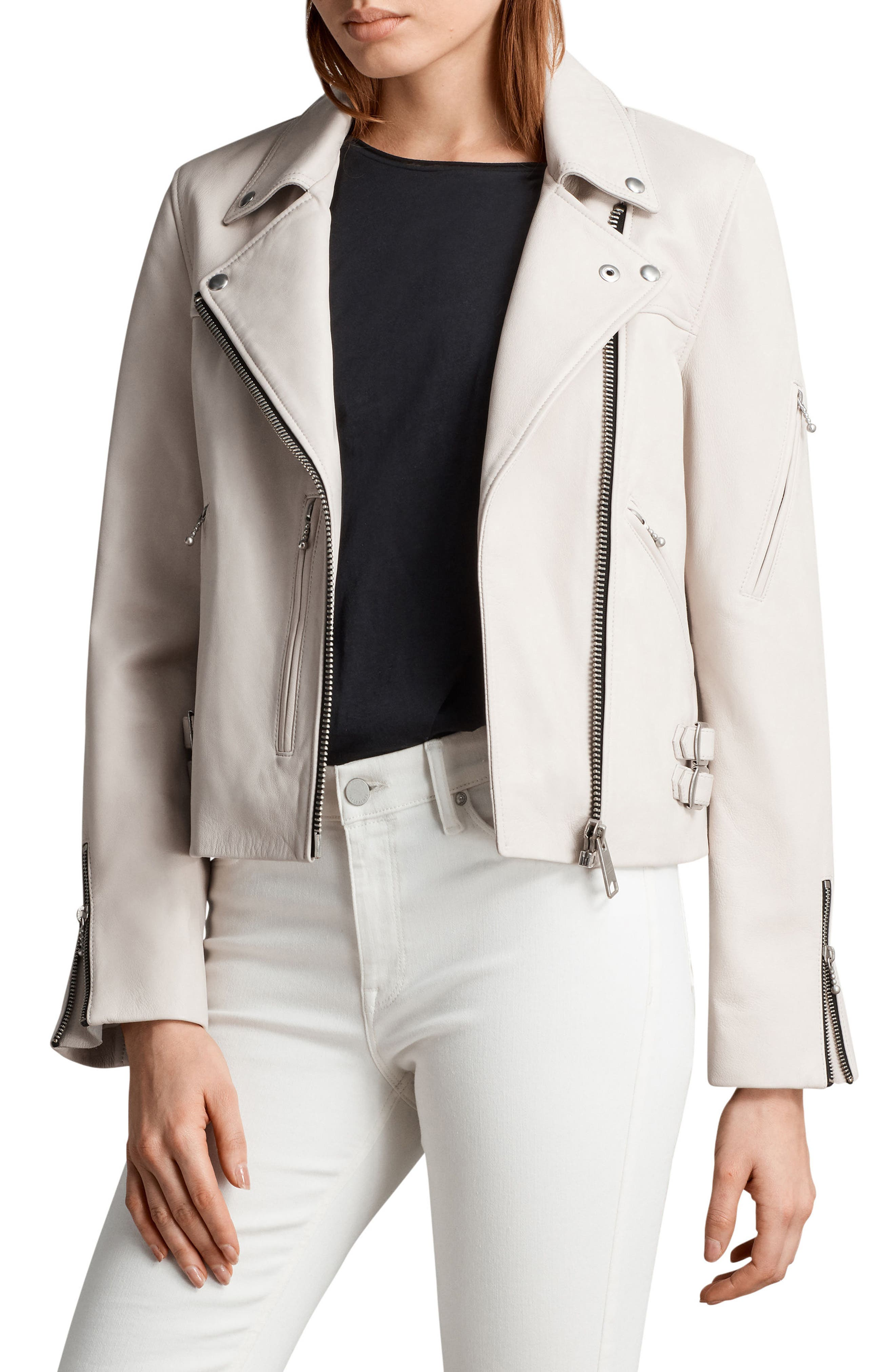 Prescott Leather Biker Jacket by Allsaints