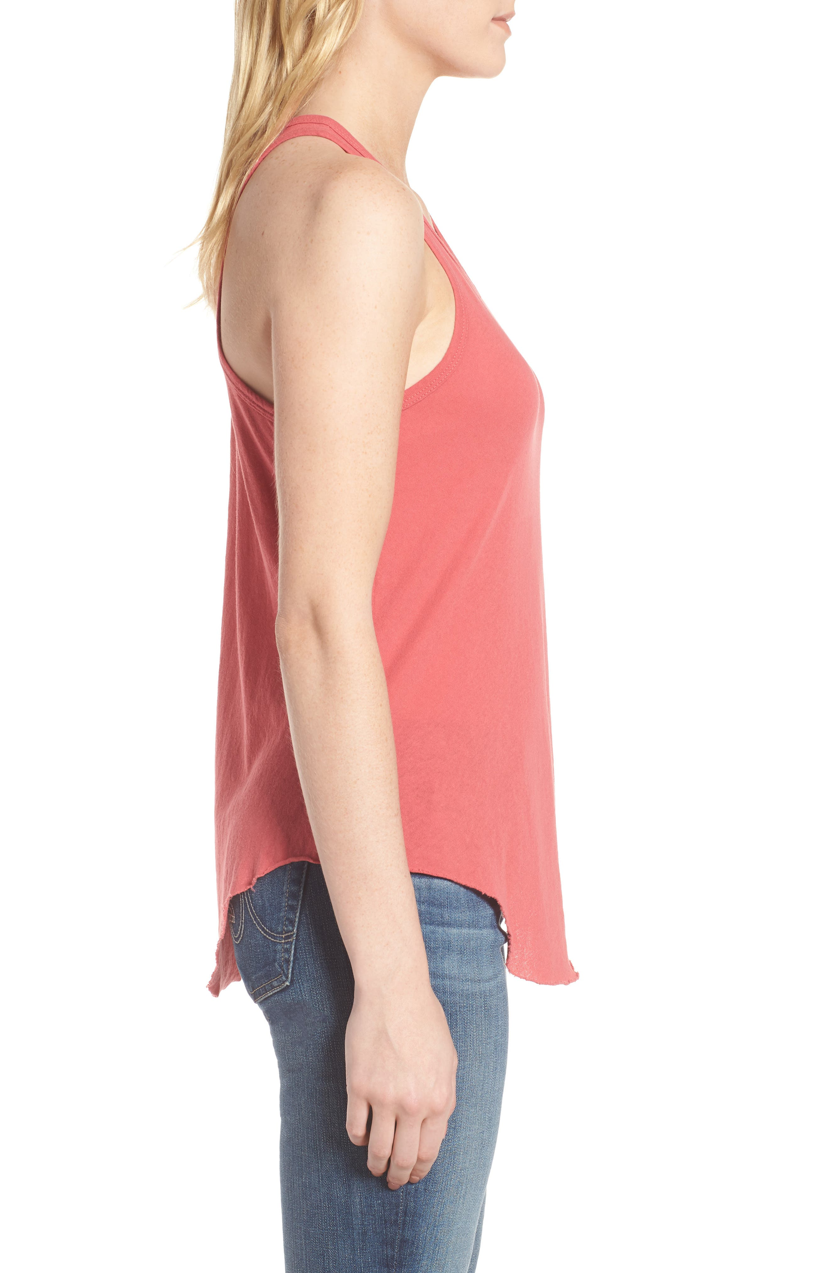 Layer Tank,                             Alternate thumbnail 3, color,                             Vintage Red