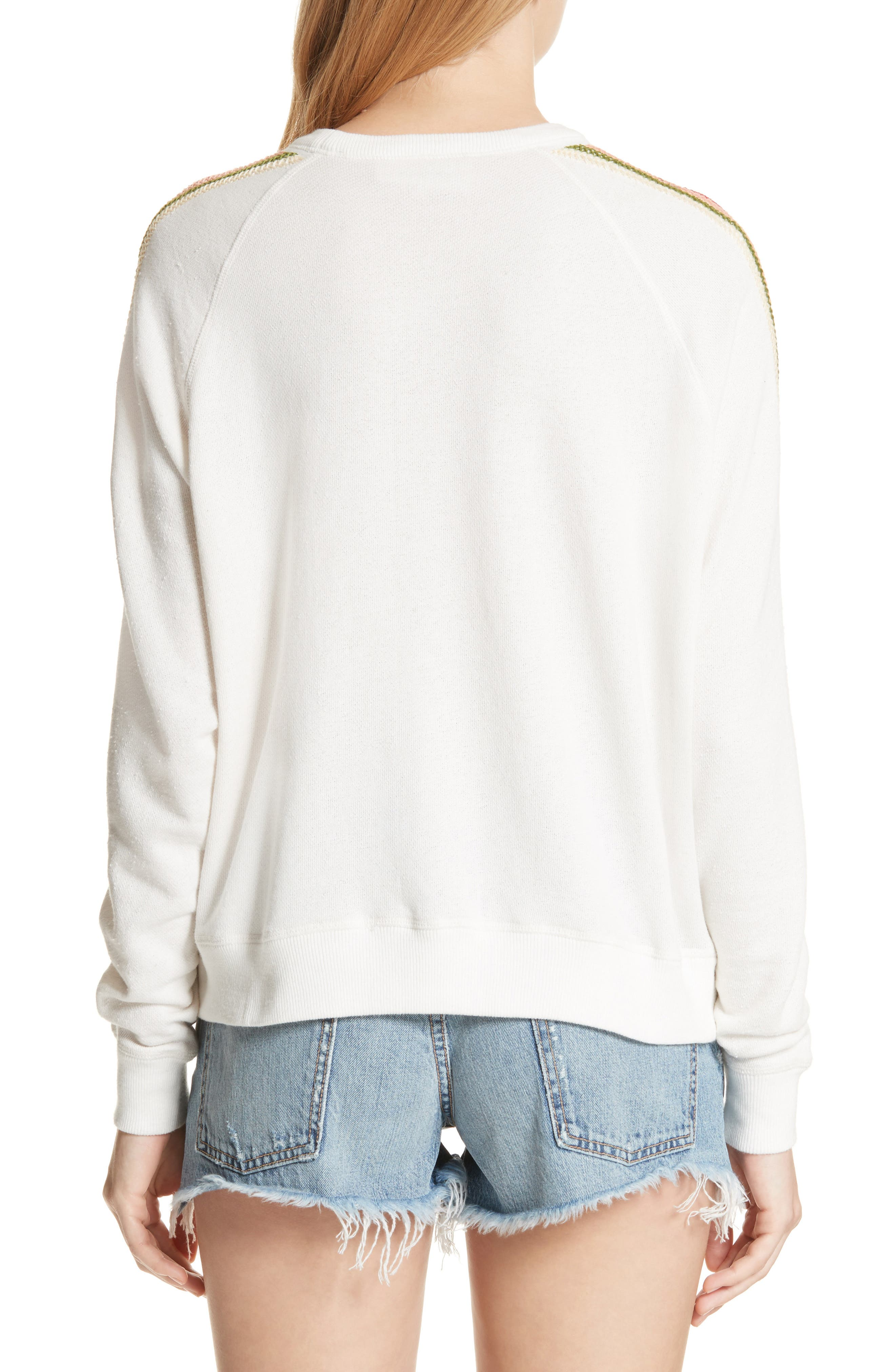 The College Sweatshirt,                             Alternate thumbnail 2, color,                             White