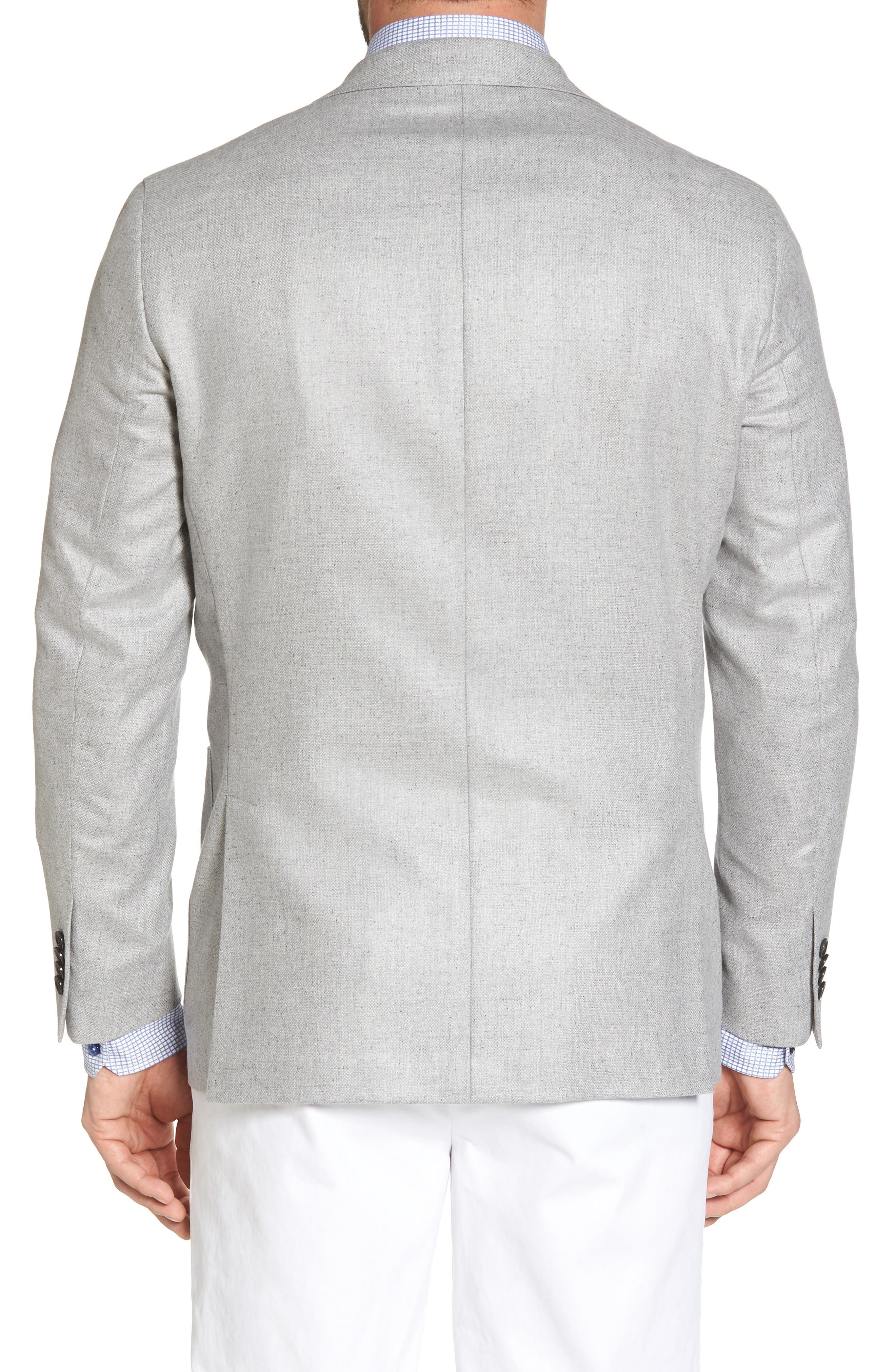 Arnold Classic Fit Wool & Silk Blazer,                             Alternate thumbnail 2, color,                             Light Grey