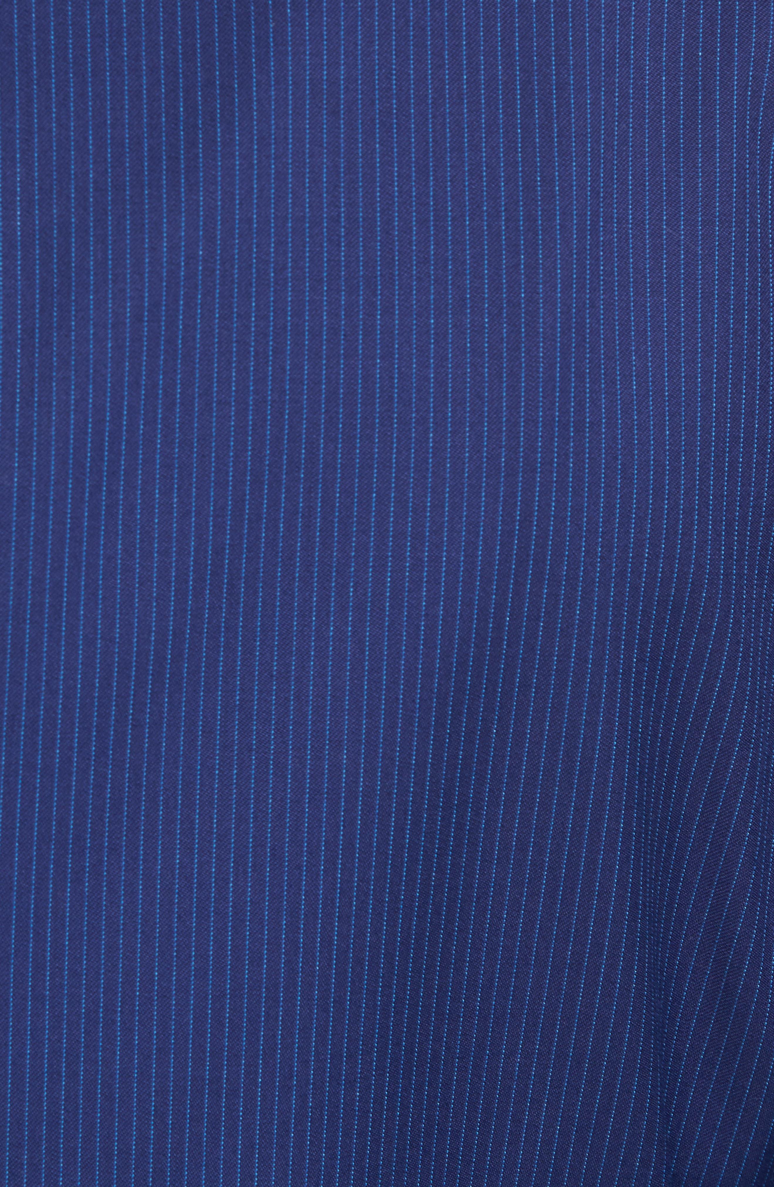 Ryan Classic Fit Stripe Wool Suit,                             Alternate thumbnail 7, color,                             Medium Blue