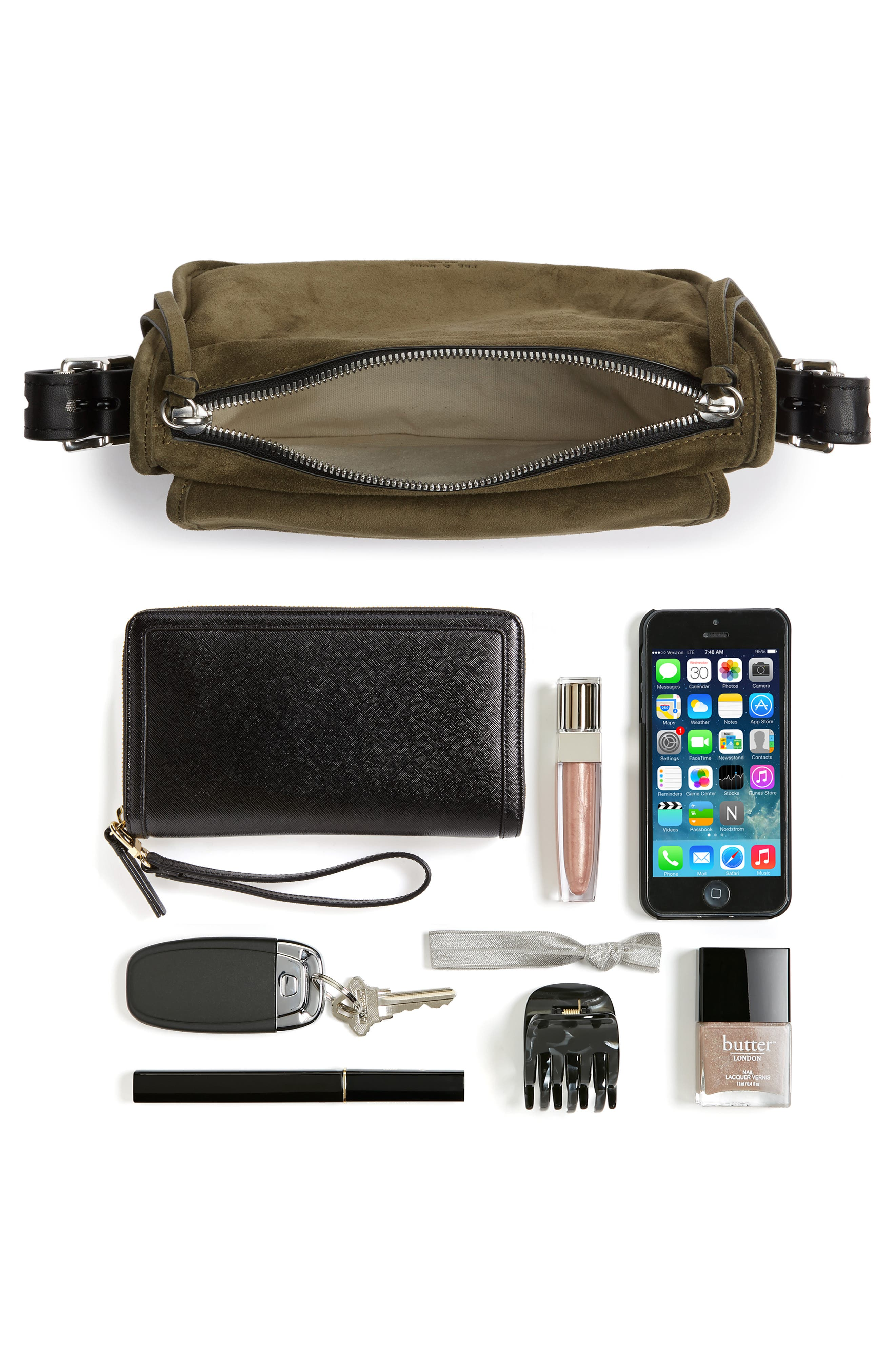 Small Leather Field Messenger Bag,                             Alternate thumbnail 7, color,