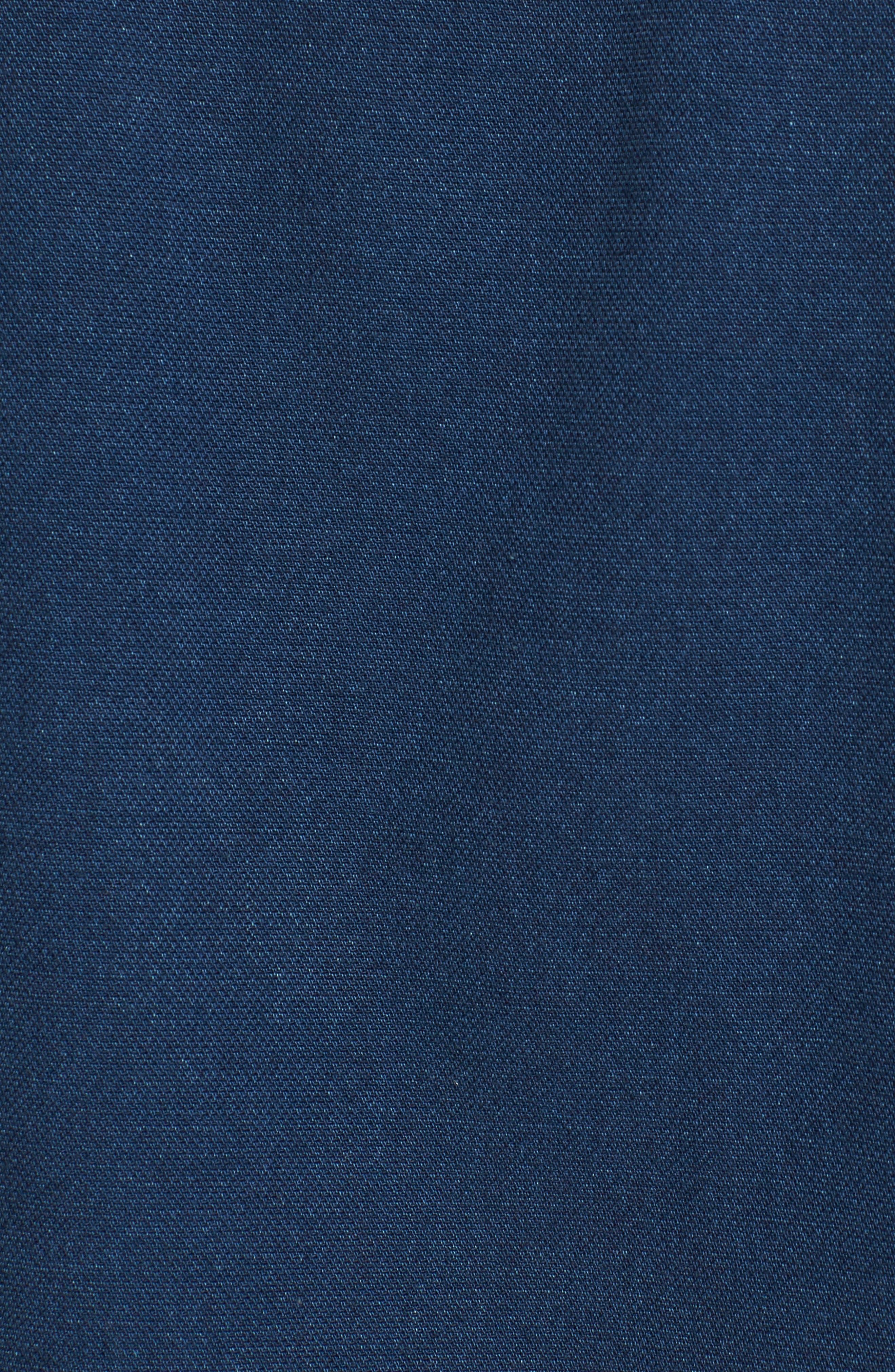 Band Collar Piqué Shirt,                             Alternate thumbnail 5, color,                             Indigo