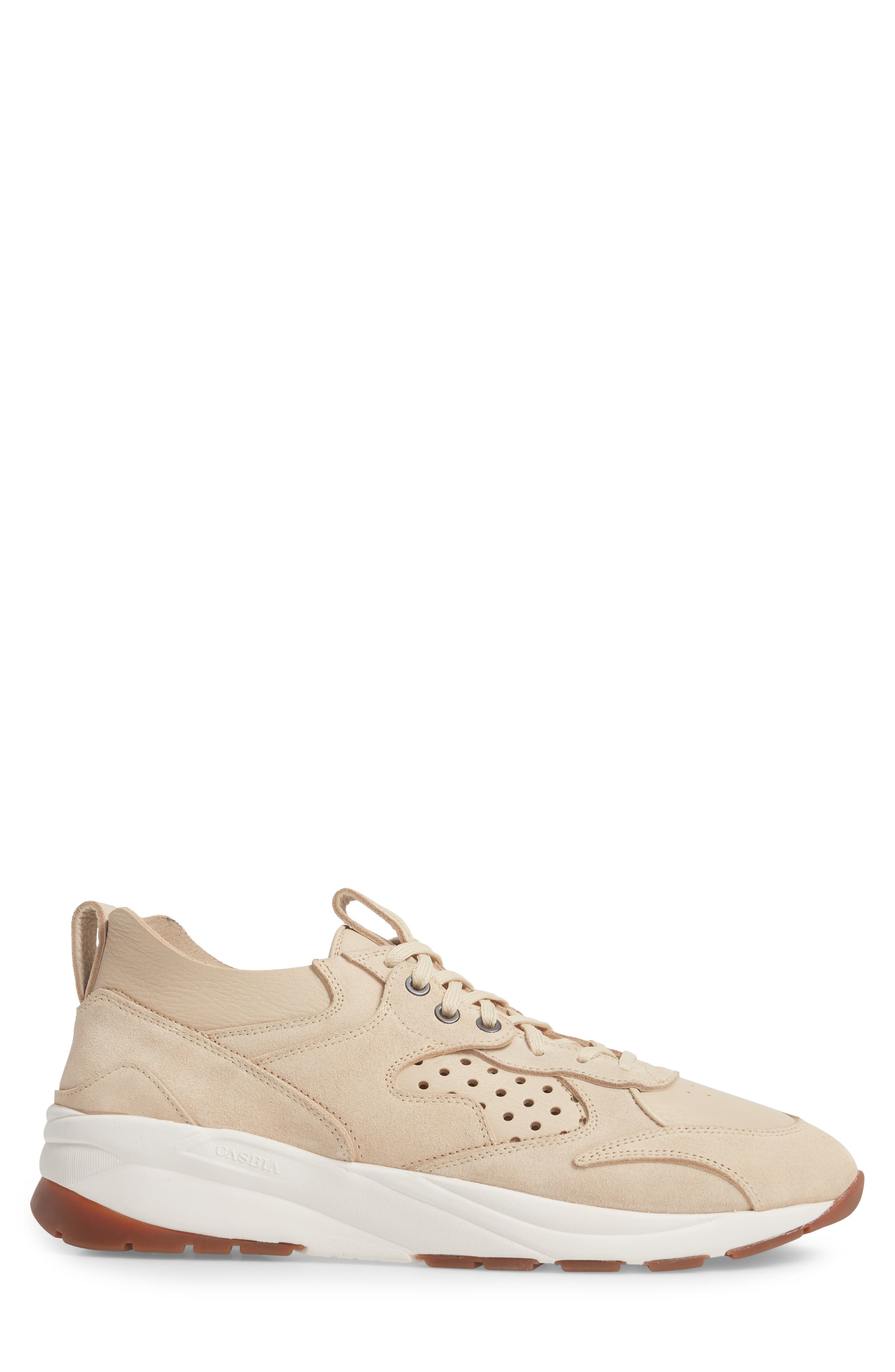 Champion Veloce Sneaker,                             Alternate thumbnail 3, color,                             Beige Suede