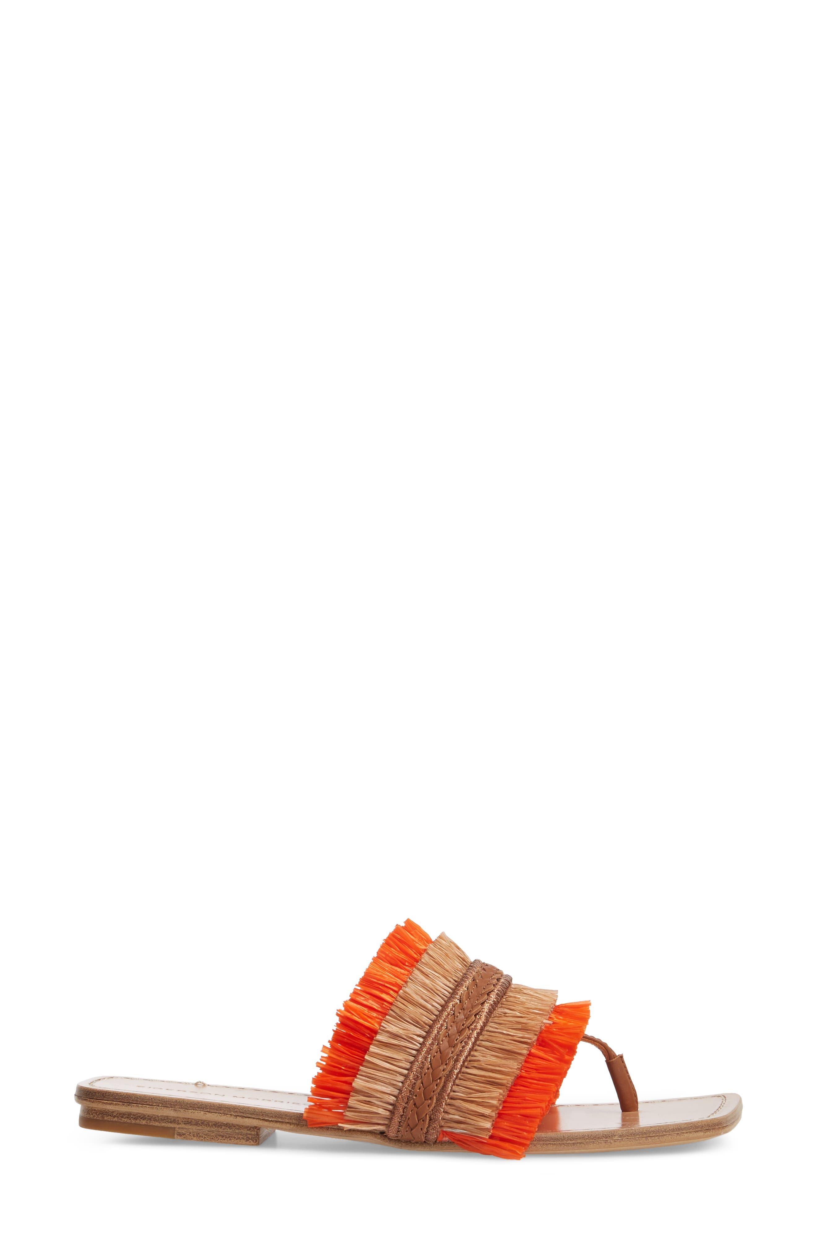 Woven Sandal,                             Alternate thumbnail 3, color,                             Tan/ Orange