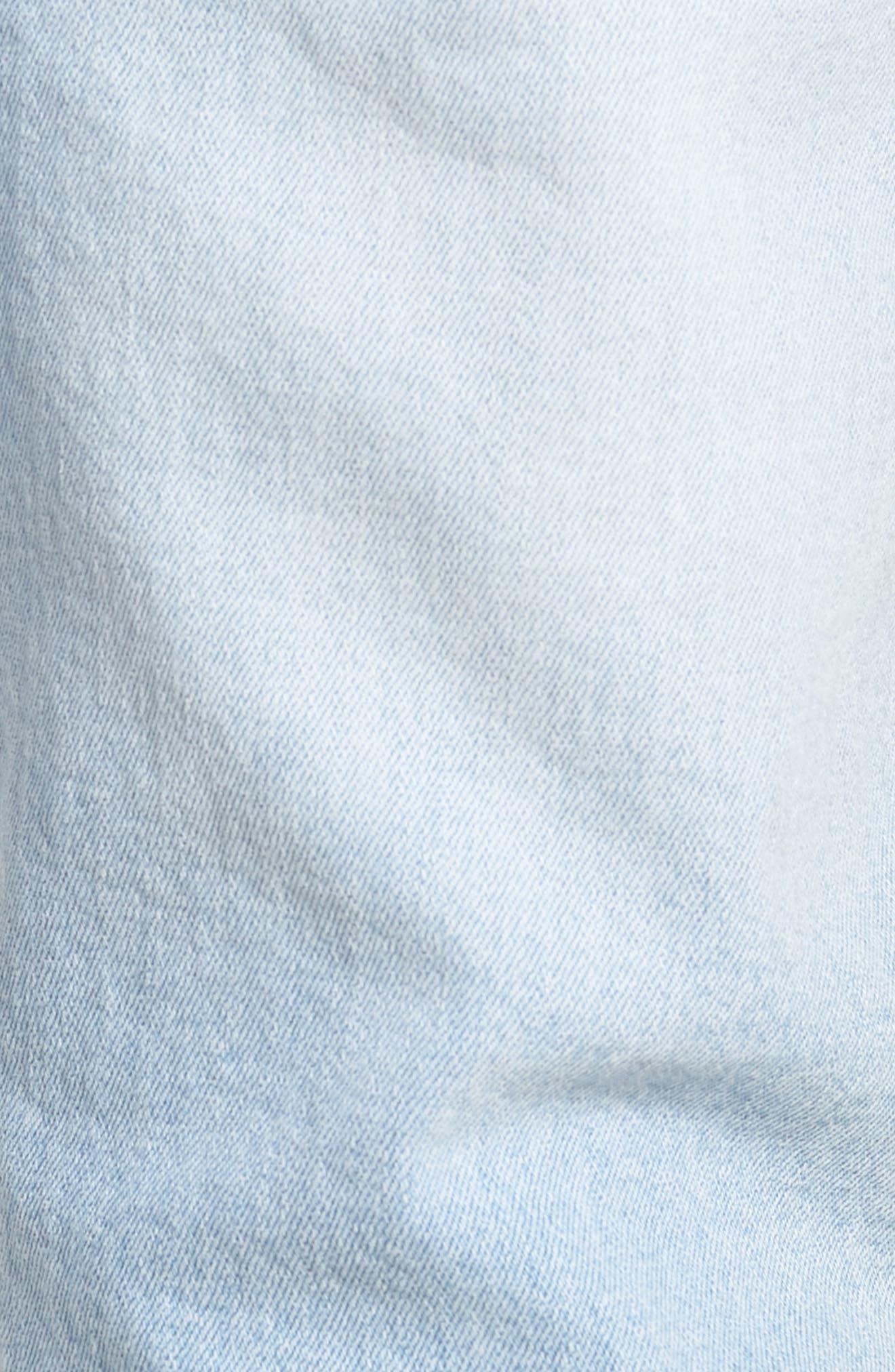 Clark Slim Straight Leg Jeans,                             Alternate thumbnail 5, color,                             Superlight Blue Ripped