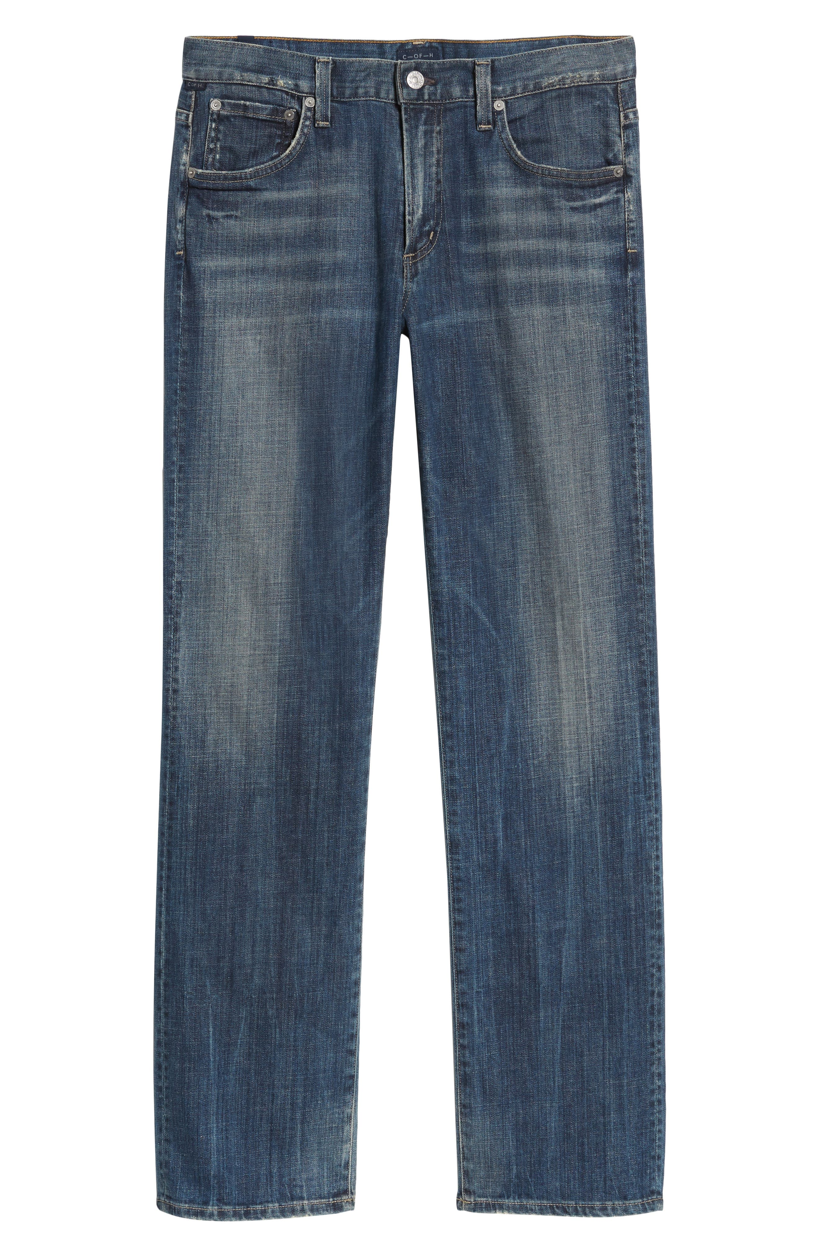 Sid Straight Leg Jeans,                             Alternate thumbnail 6, color,                             Reeves