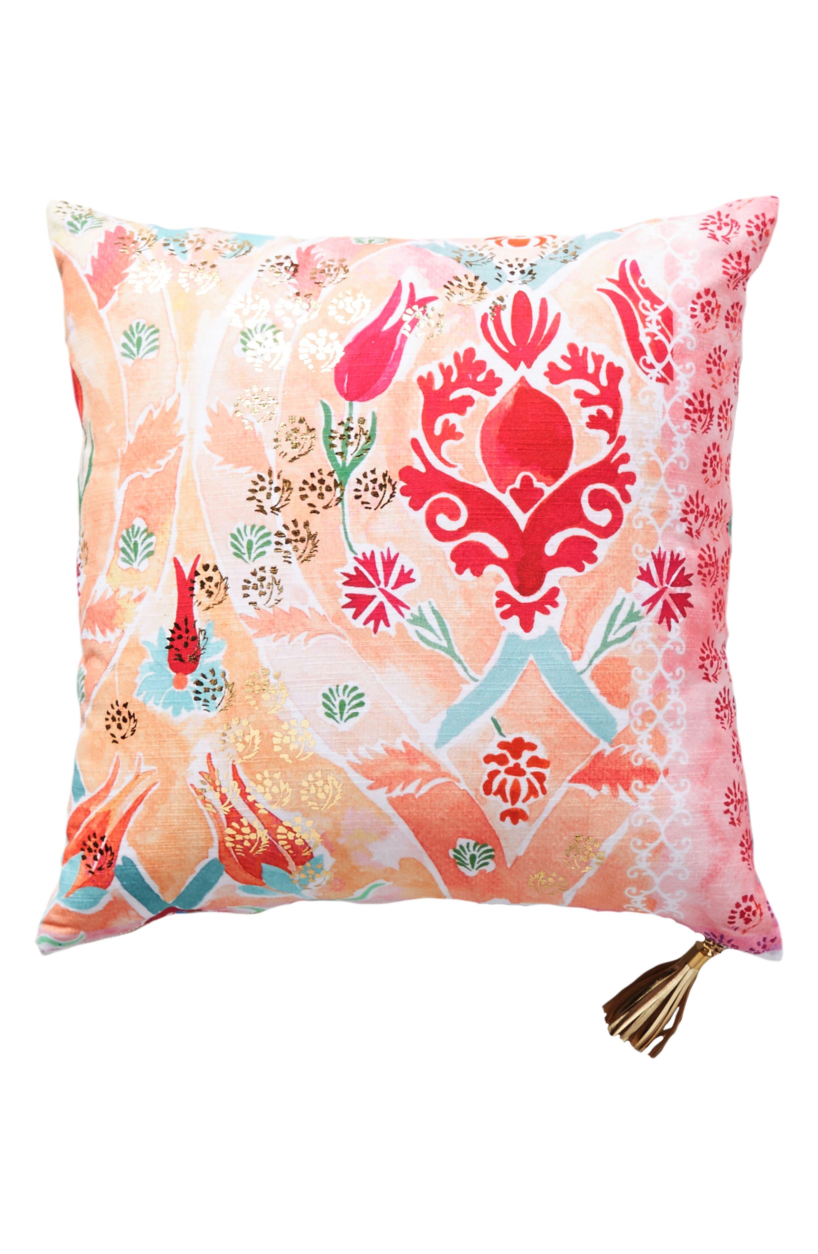 Tali Accent Pillow,                             Alternate thumbnail 5, color,                             Peach