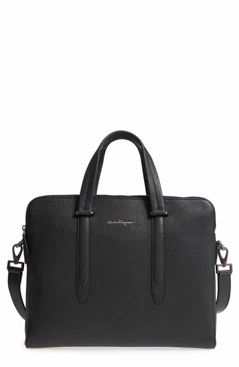 Salvatore Ferragamo Firenze Leather Briefcase d03f8e930e357