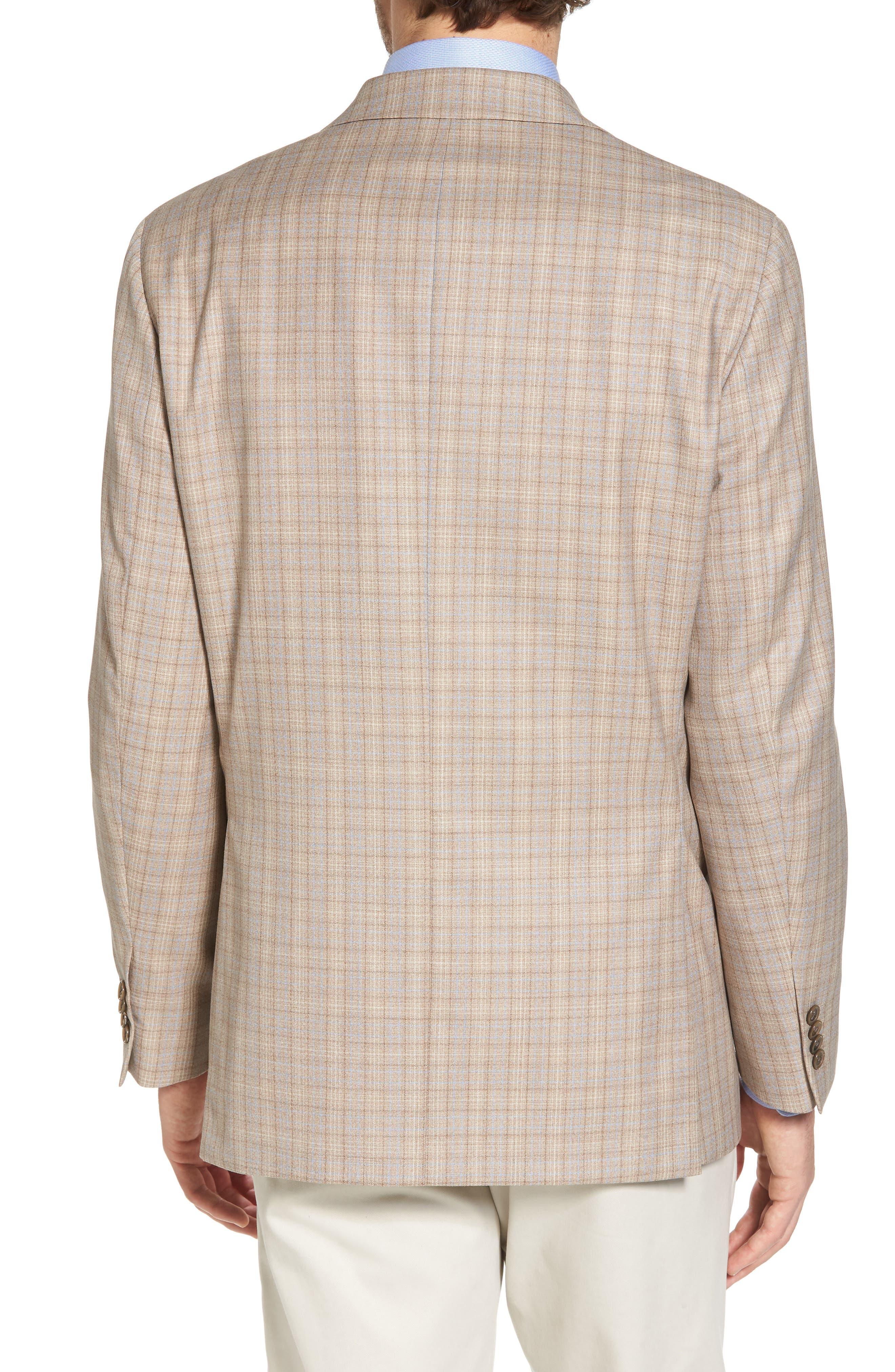 Arnold Classic Fit Plaid Wool Sport Coat,                             Alternate thumbnail 2, color,                             Tan