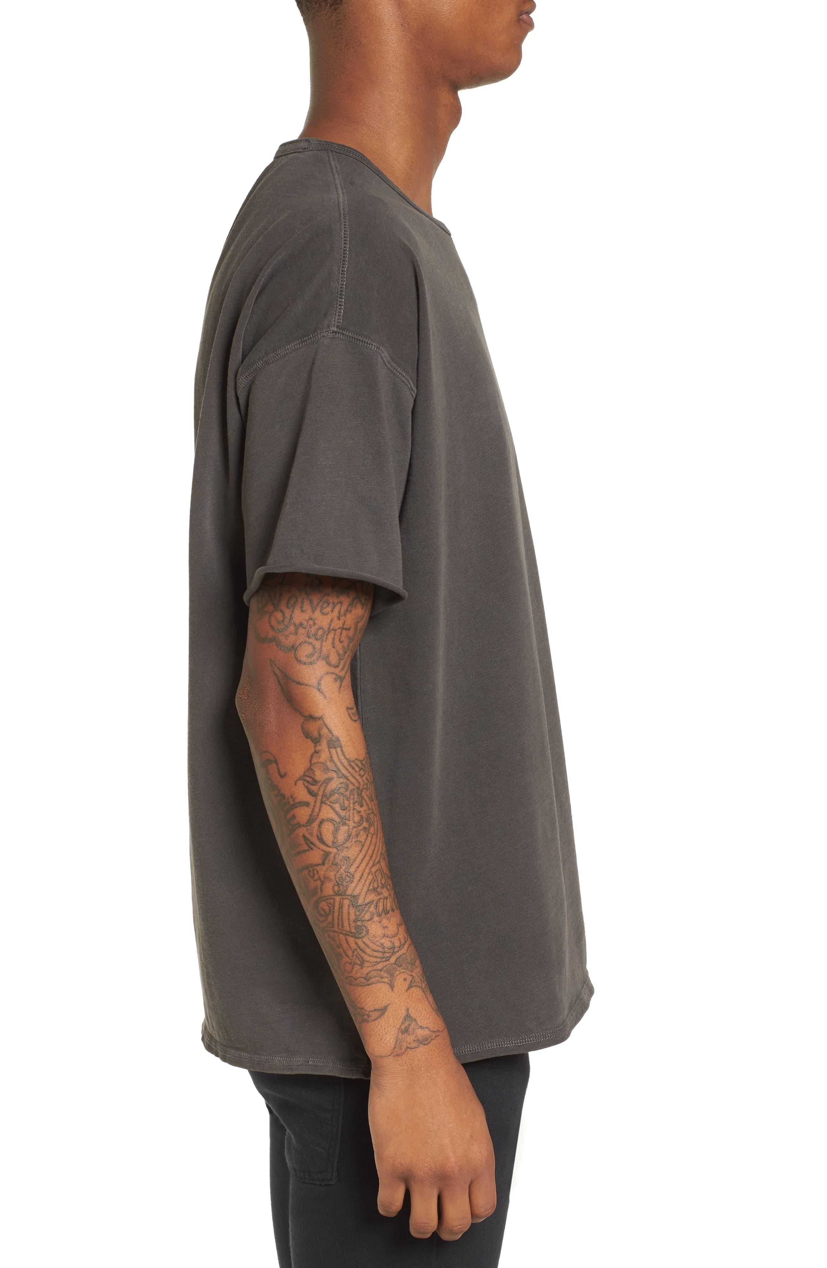 Slub T-Shirt,                             Alternate thumbnail 3, color,                             Grey Onyx