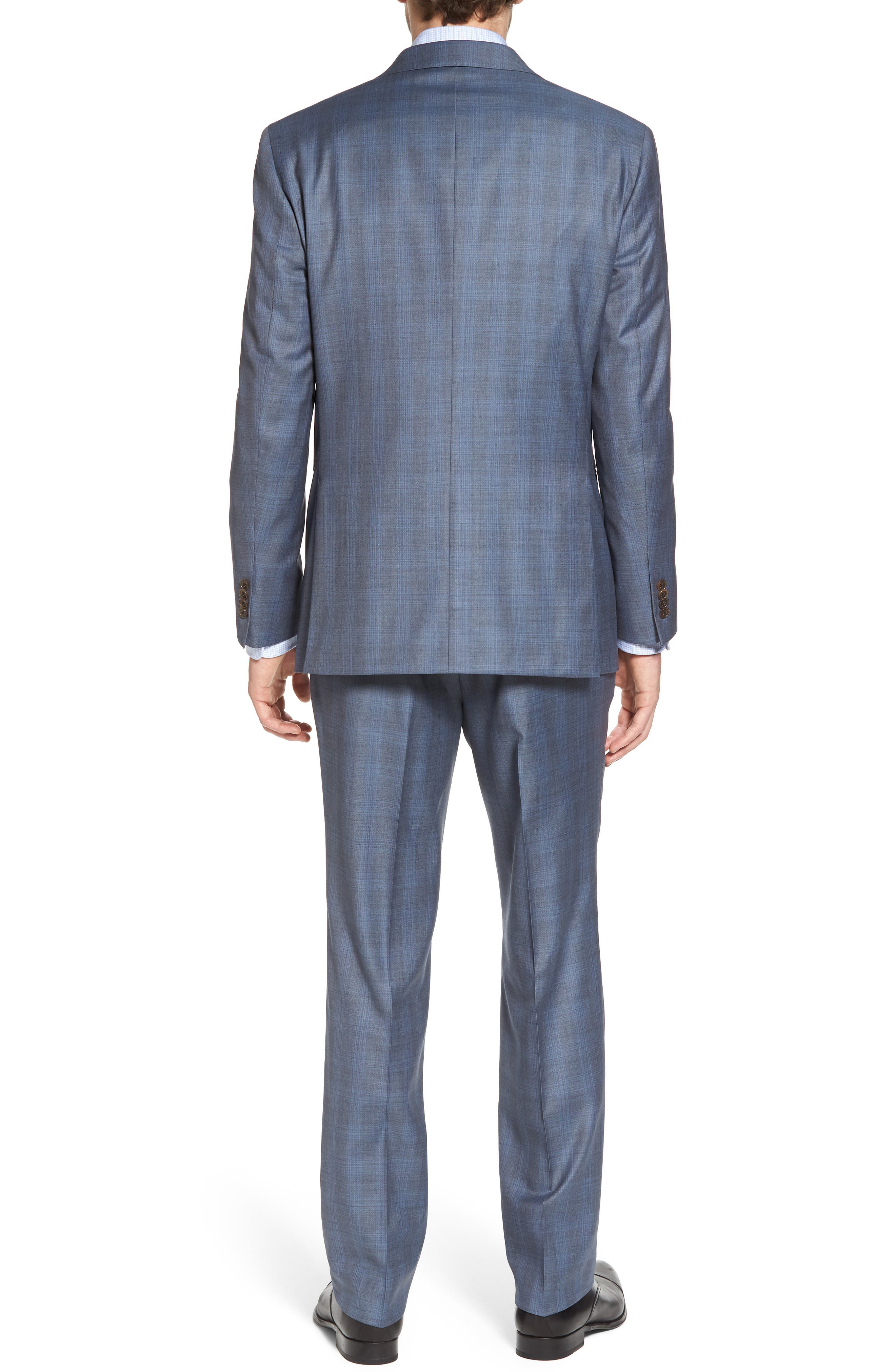 Ryan Classic Fit Plaid Wool Suit,                             Alternate thumbnail 2, color,                             Grey