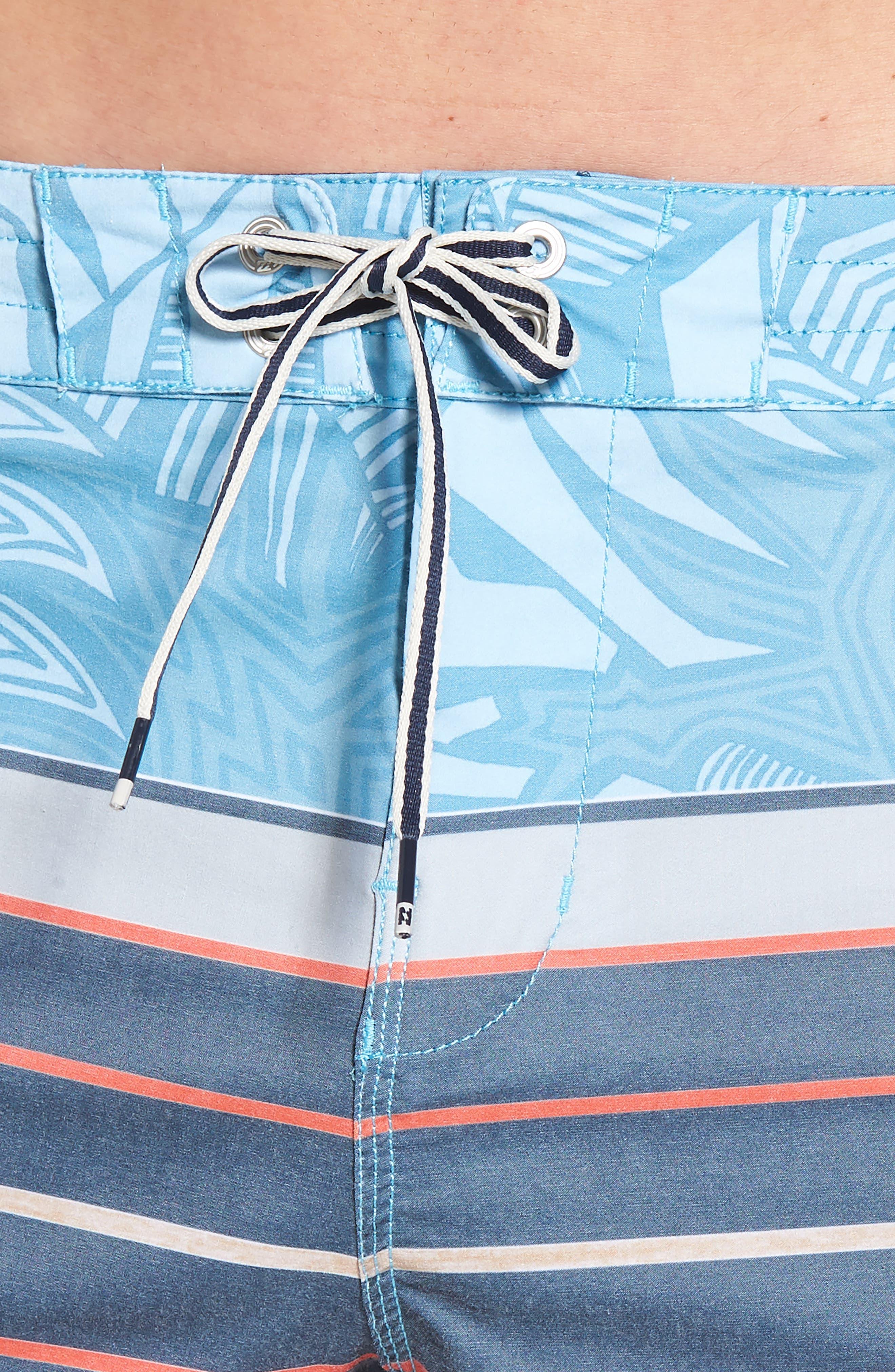 Stringer Lo Tides Board Shorts,                             Alternate thumbnail 4, color,                             Blue