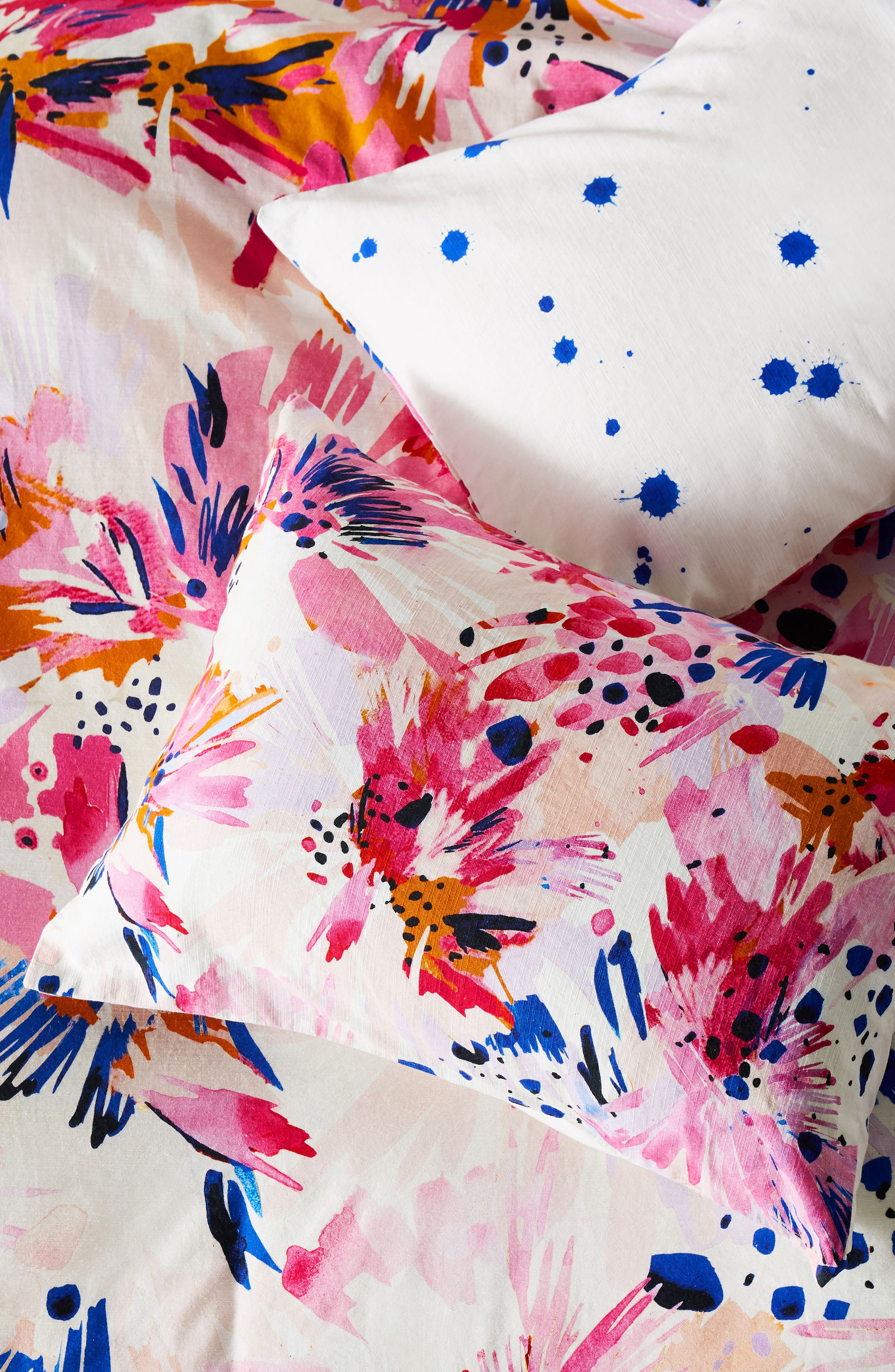 x Lillian Farag Floral Set of Shams,                             Main thumbnail 1, color,                             Pink Multi