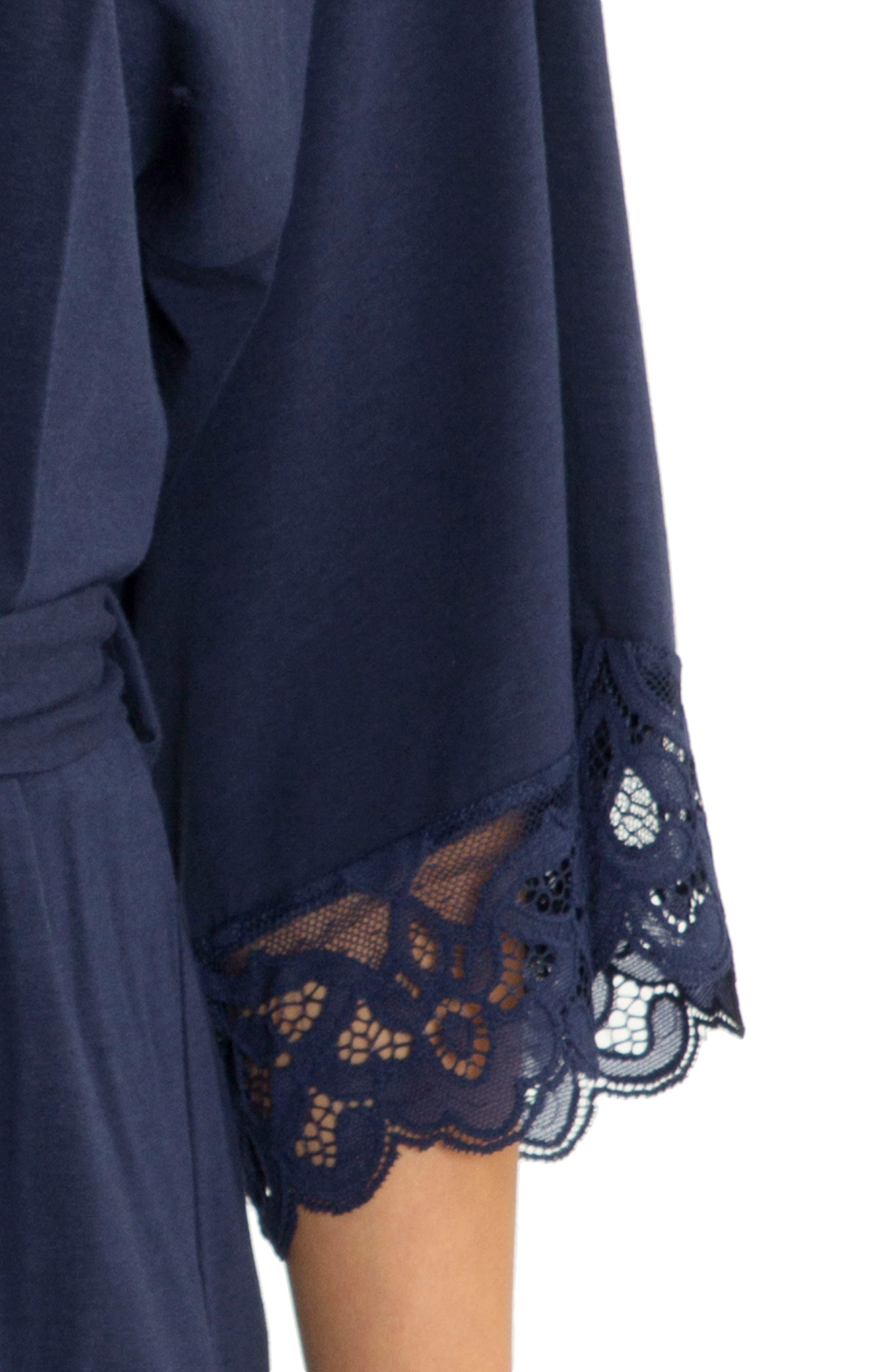 Lace Trim Wrap,                             Alternate thumbnail 5, color,                             Navy