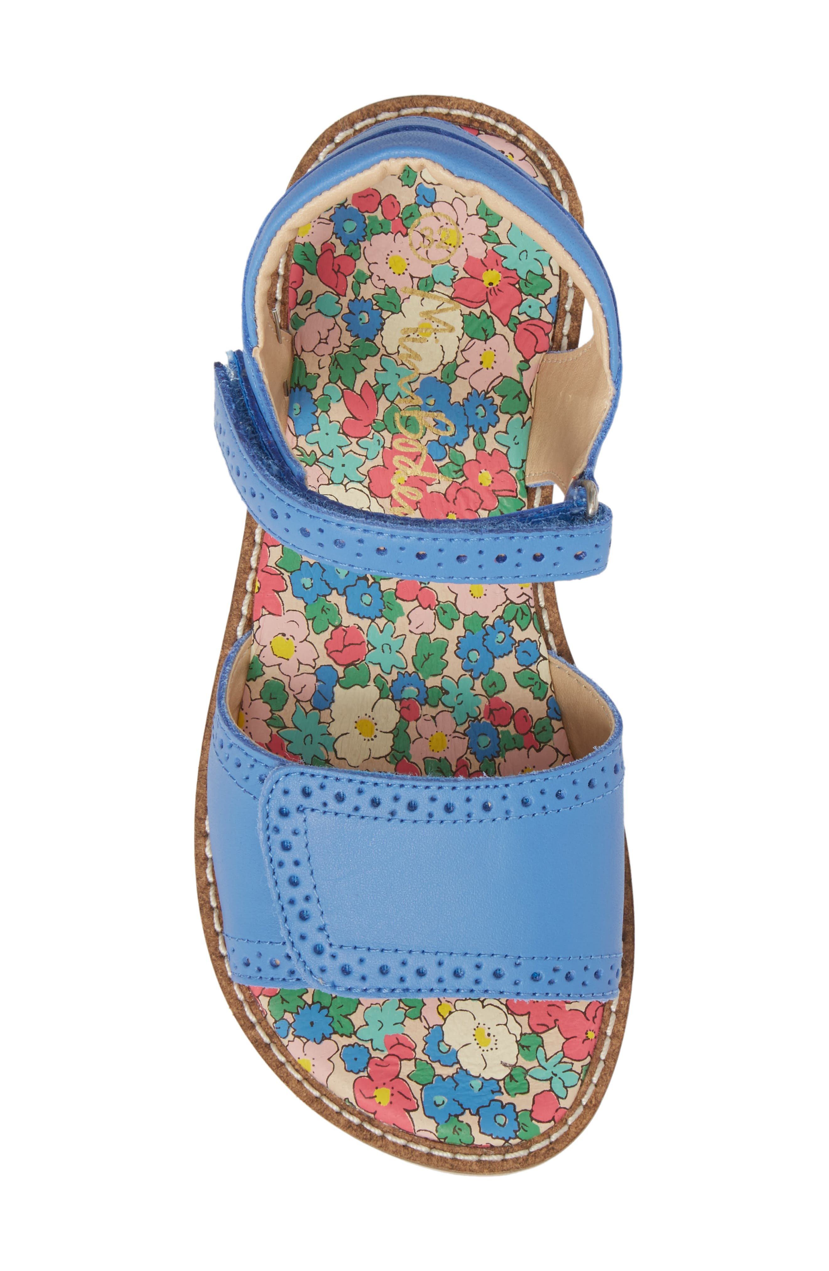 Adjustable Quarter Strap Sandal,                             Alternate thumbnail 5, color,                             Penzance Blue