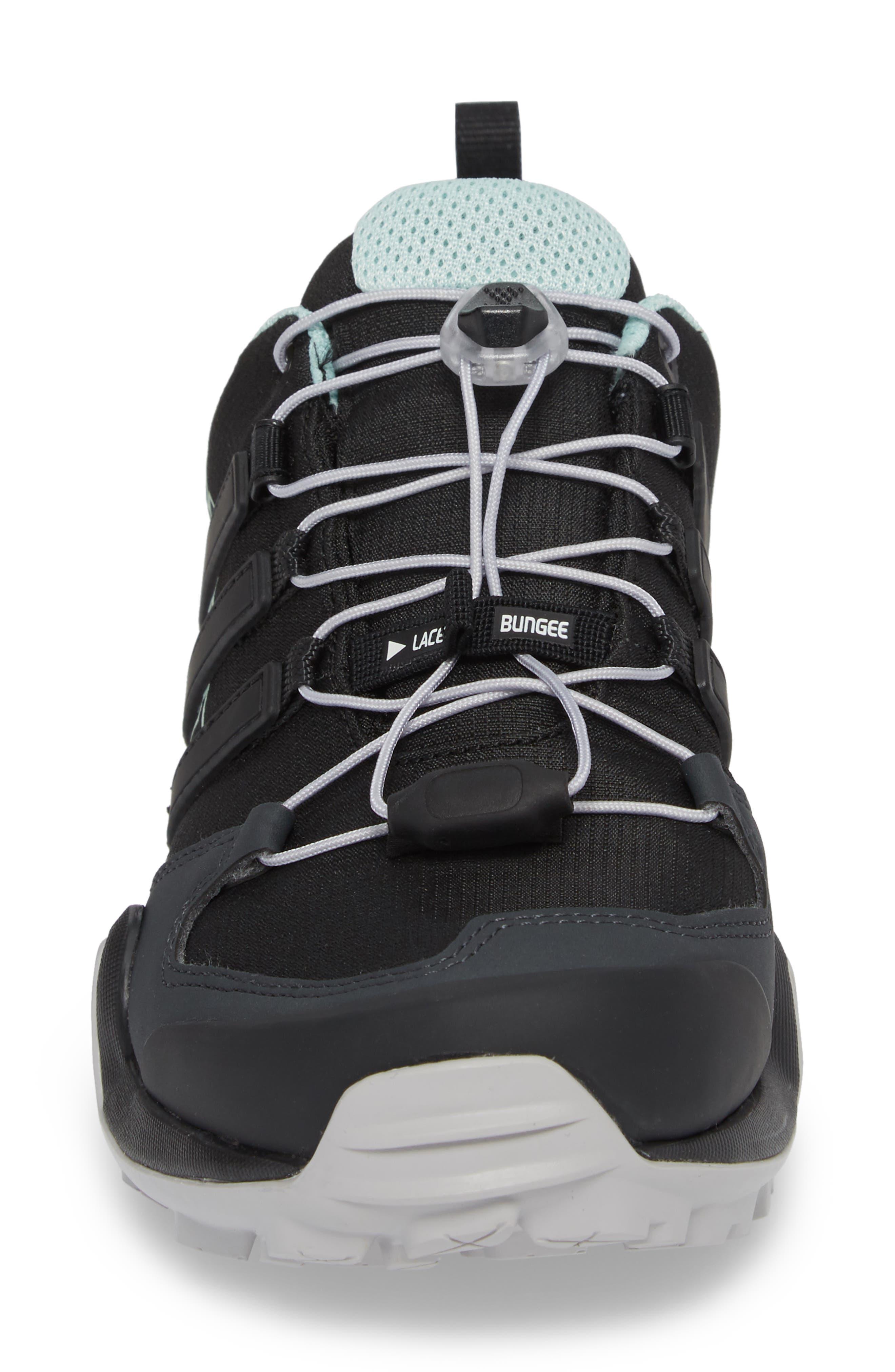 Terrex Swift R2 Gore-Tex<sup>®</sup> Hiking Shoe,                             Alternate thumbnail 4, color,                             Black/ Black/ Ash Green