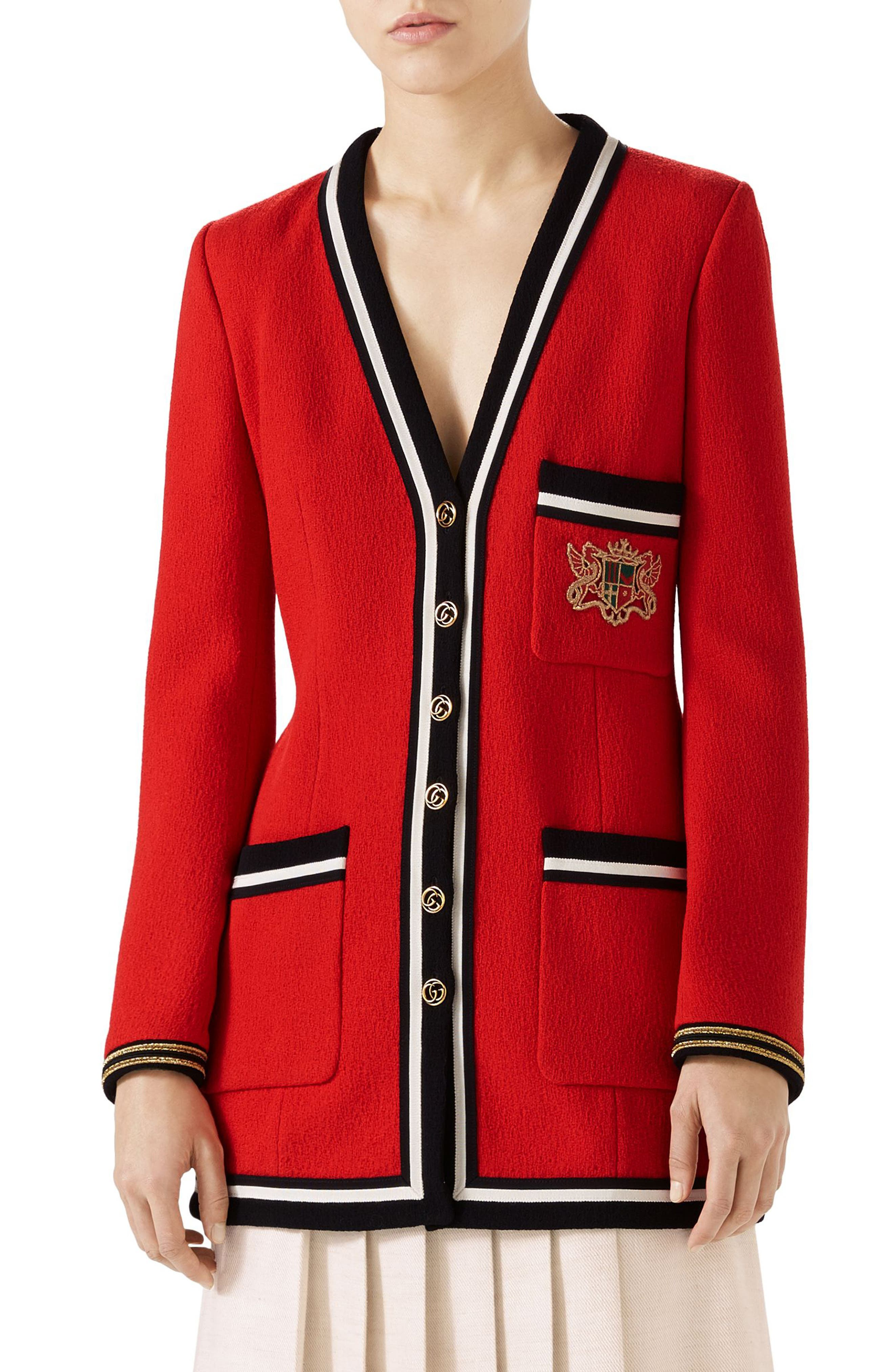 Gucci Wool Sable Long Jacket