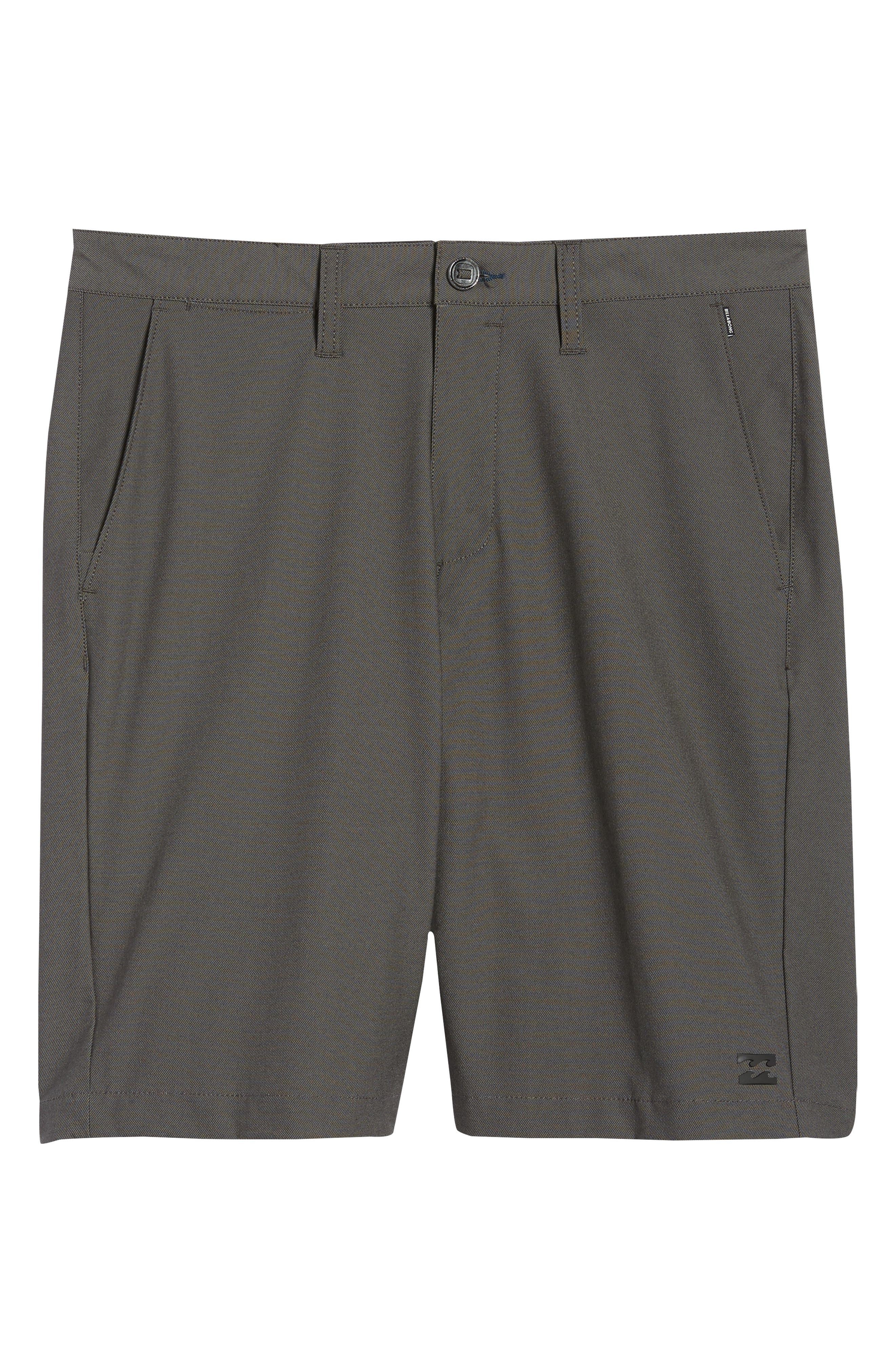 Crossfire X Submersible Twill Shorts,                             Alternate thumbnail 6, color,                             Black