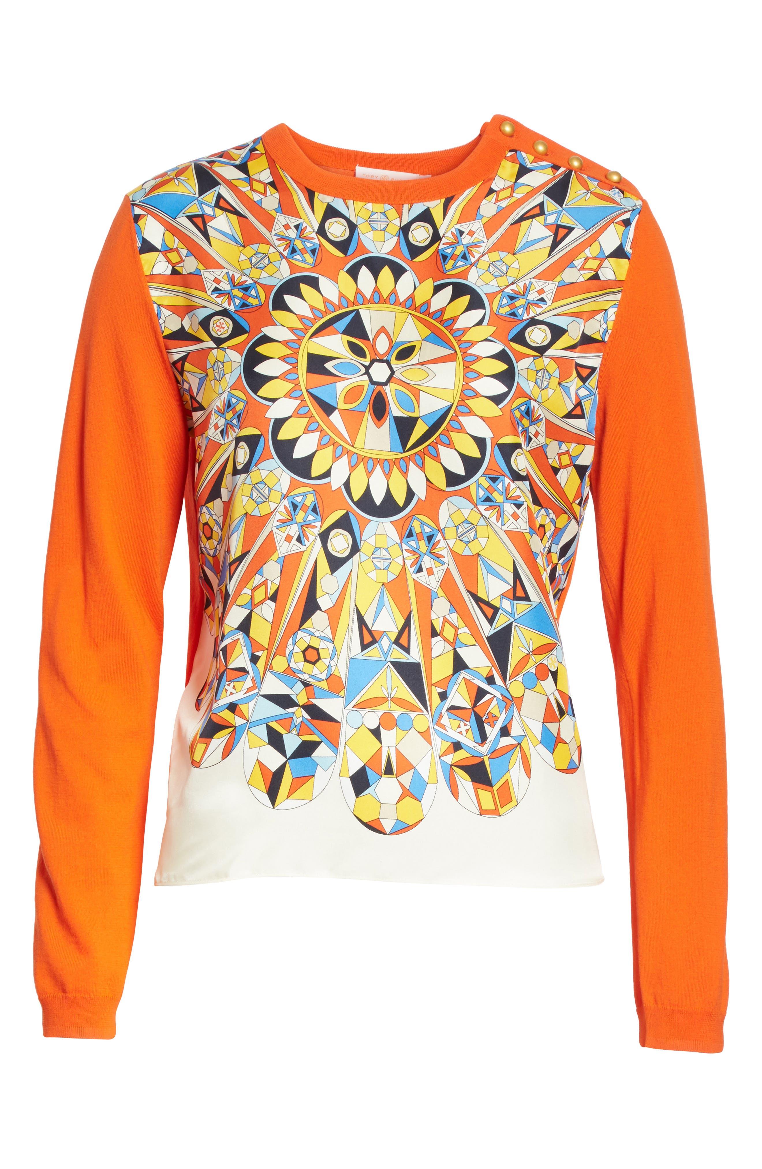 Alyssa Sweater,                             Alternate thumbnail 6, color,                             Sweet Tangerine