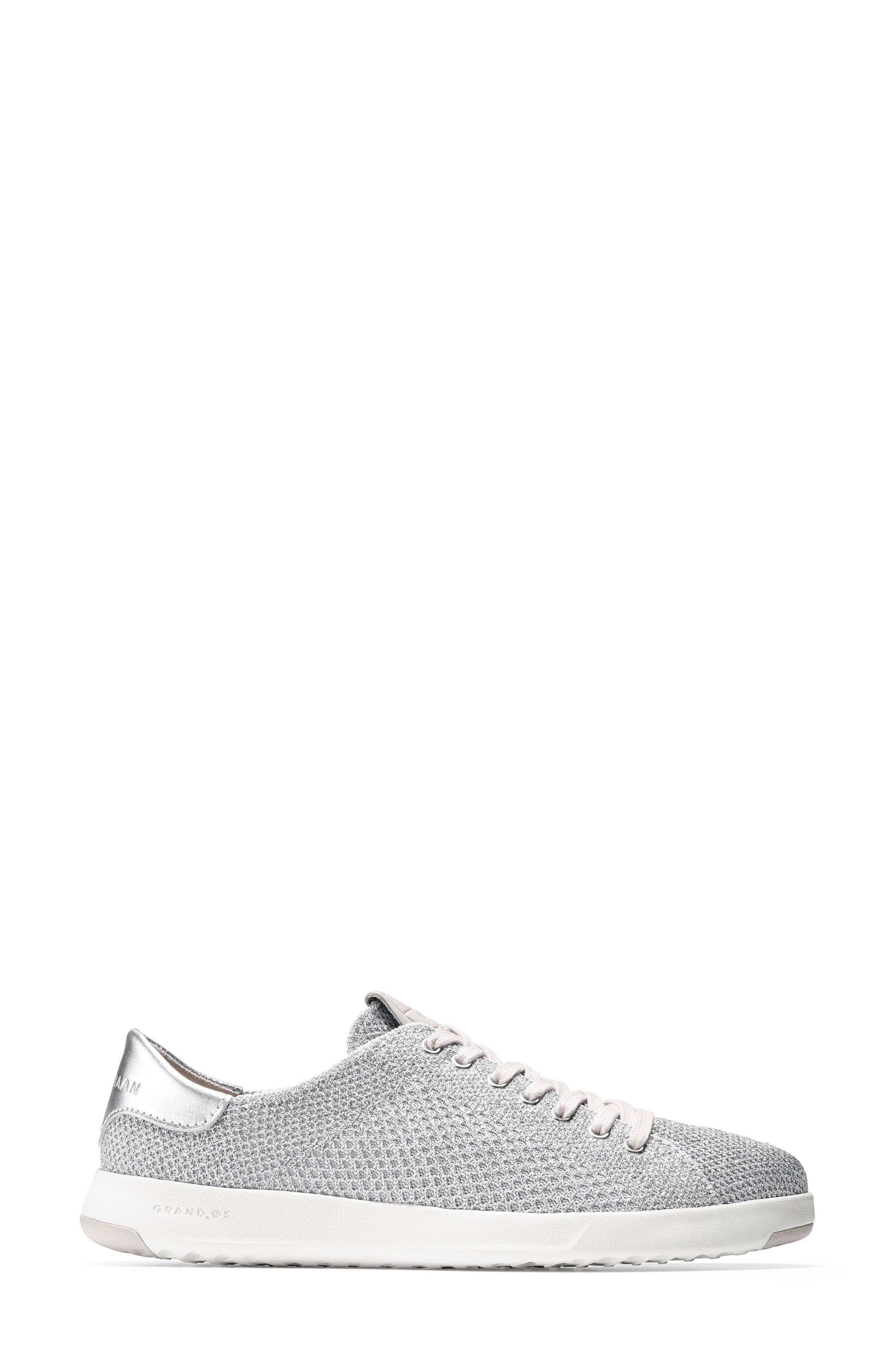 GrandPro Stitchlite Sneaker,                             Alternate thumbnail 3, color,                             Silver Fabric