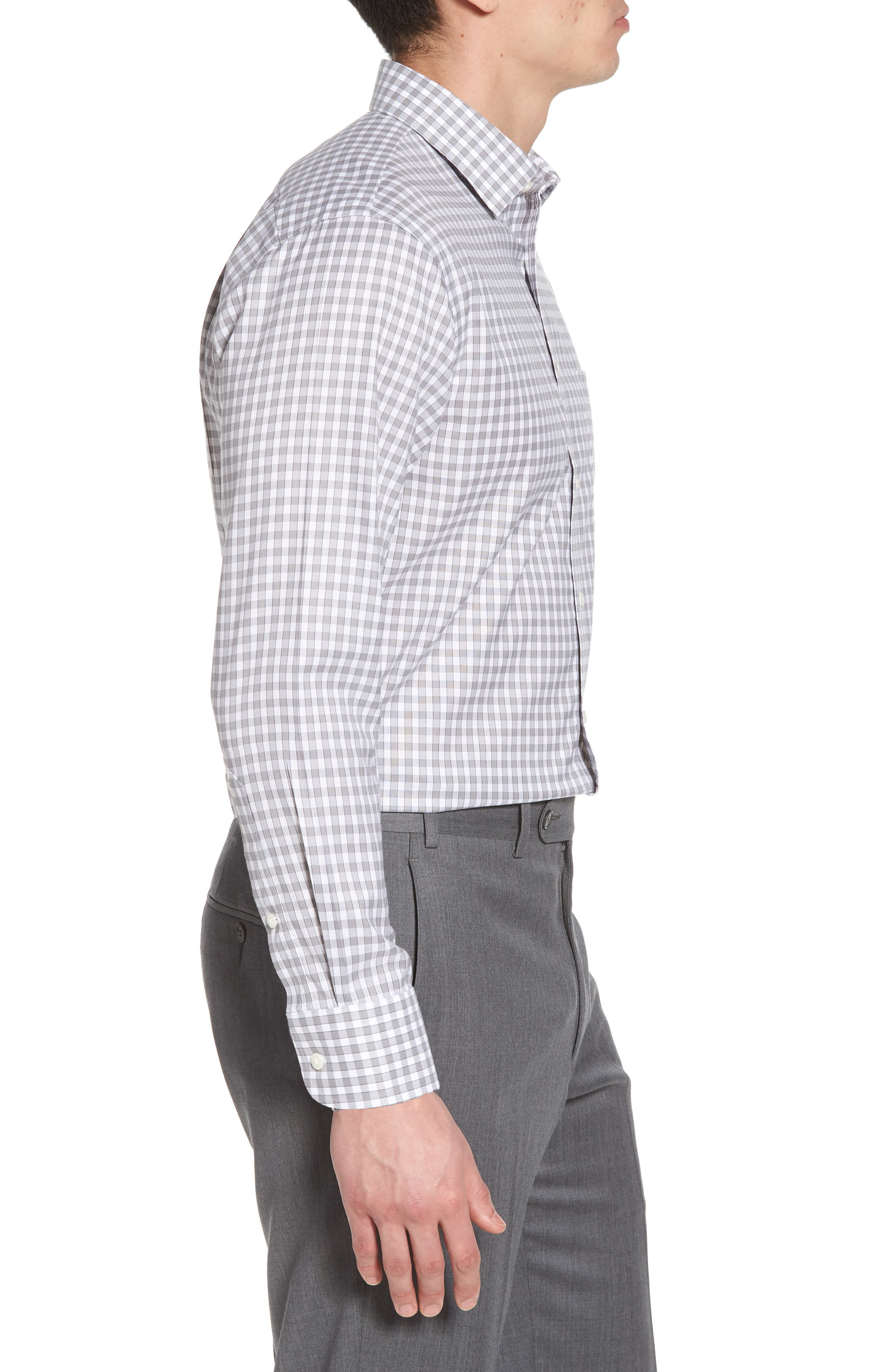 Alternate Image 3  - Nordstrom Men's Shop Smartcare™ Trim Fit Check Dress Shirt